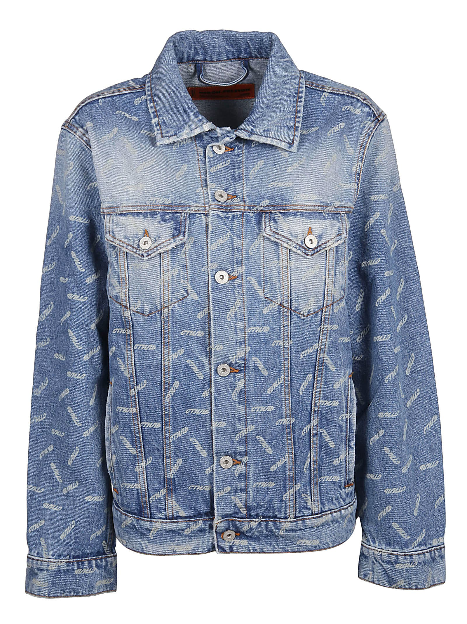 HERON PRESTON Printed Denim Jacket