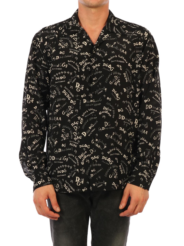 Dolce & Gabbana Multi Logo Silk Shirt