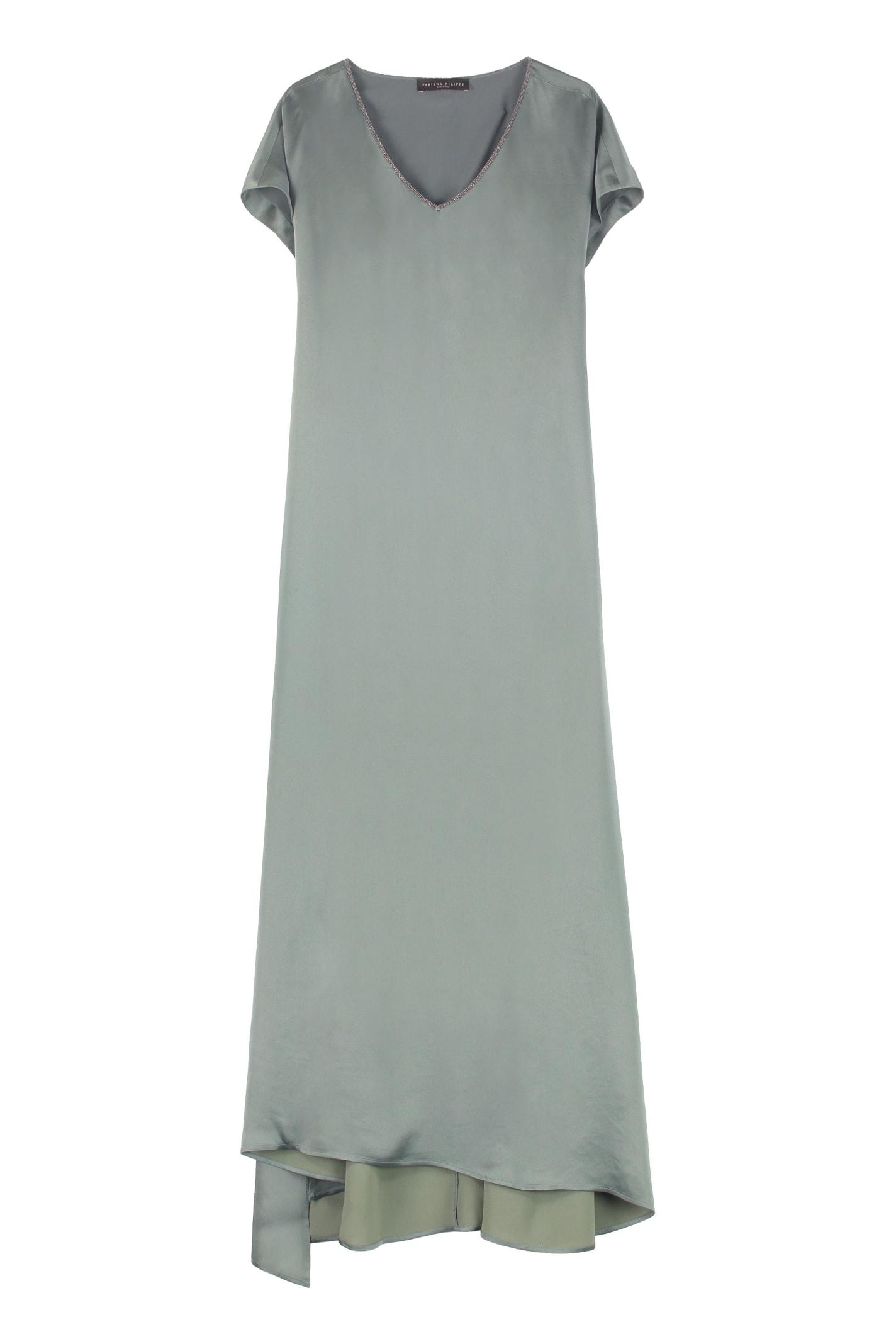 Buy Fabiana Filippi Satin Dress online, shop Fabiana Filippi with free shipping