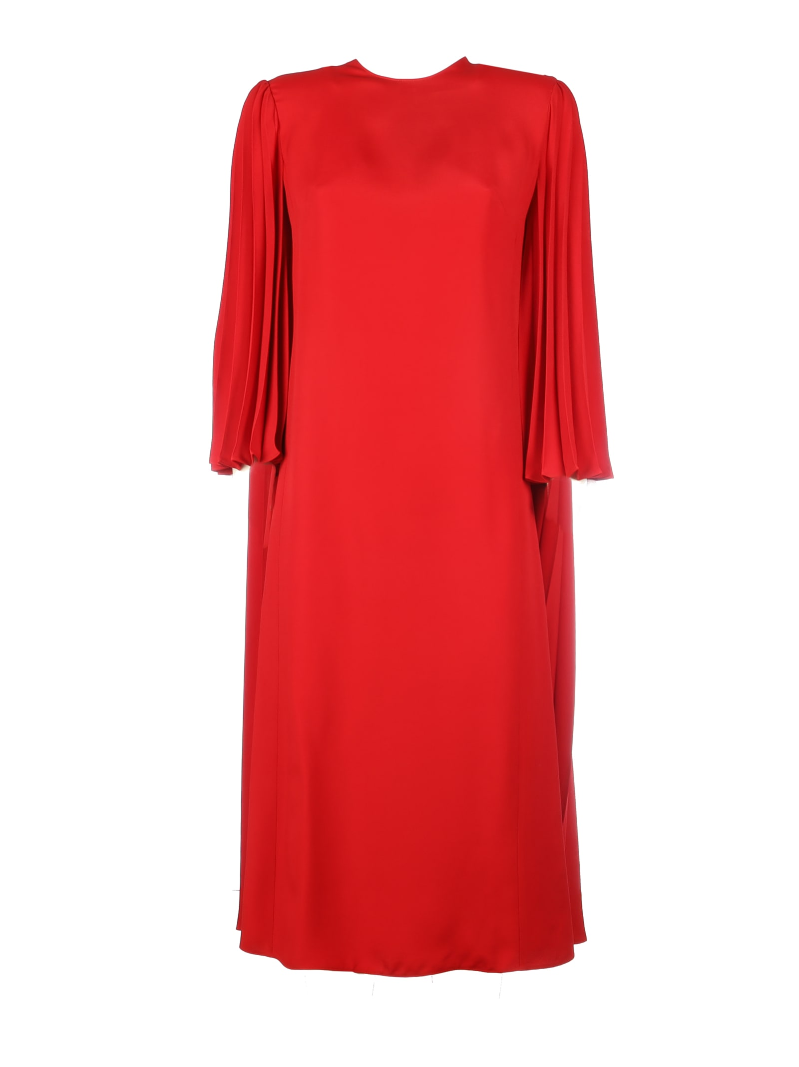 Valentino Plisse Double Face Viscosa Dress