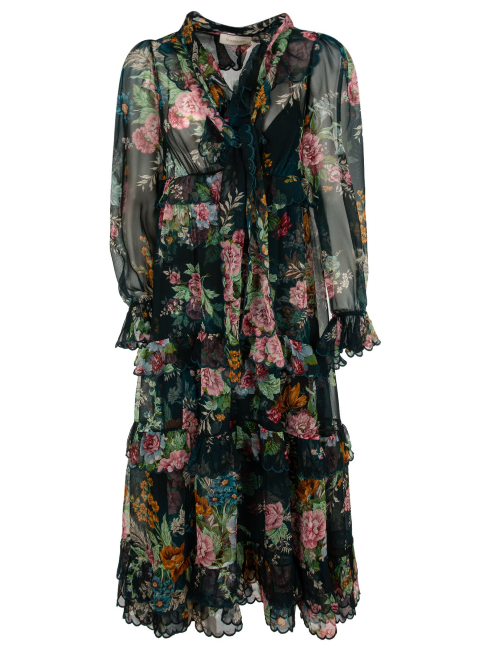 Buy Zimmermann Long Length Floral Print Dress online, shop Zimmermann with free shipping