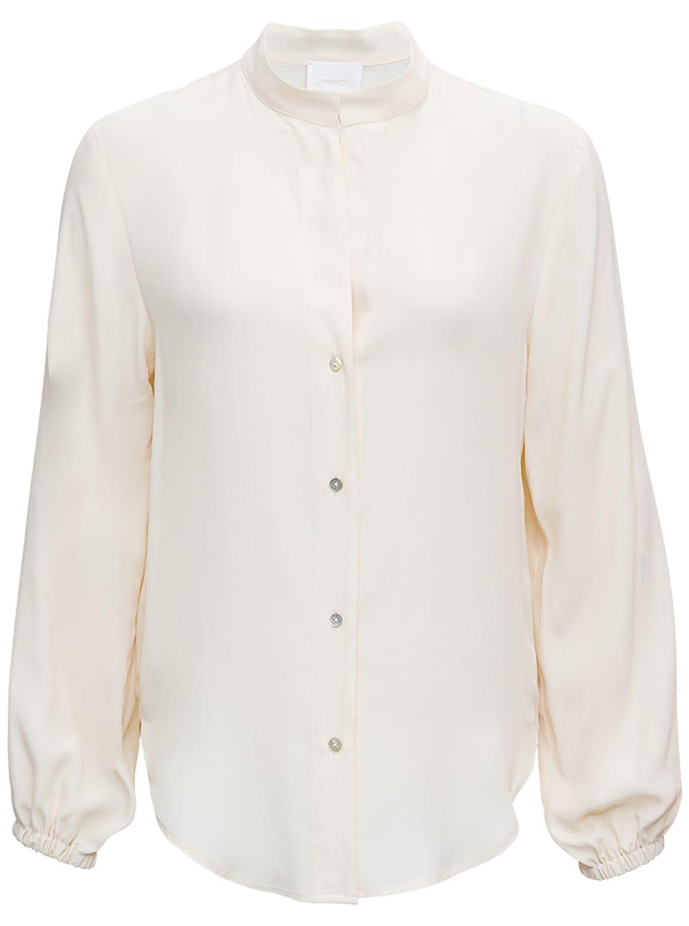 White Shirt With Mandarin Collar