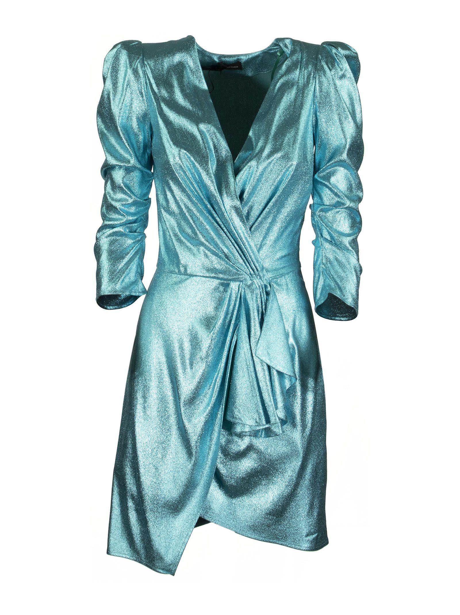 Buy Elisabetta Franchi Celyn B. Short Dress With Balloon Sleeves online, shop Elisabetta Franchi Celyn B. with free shipping