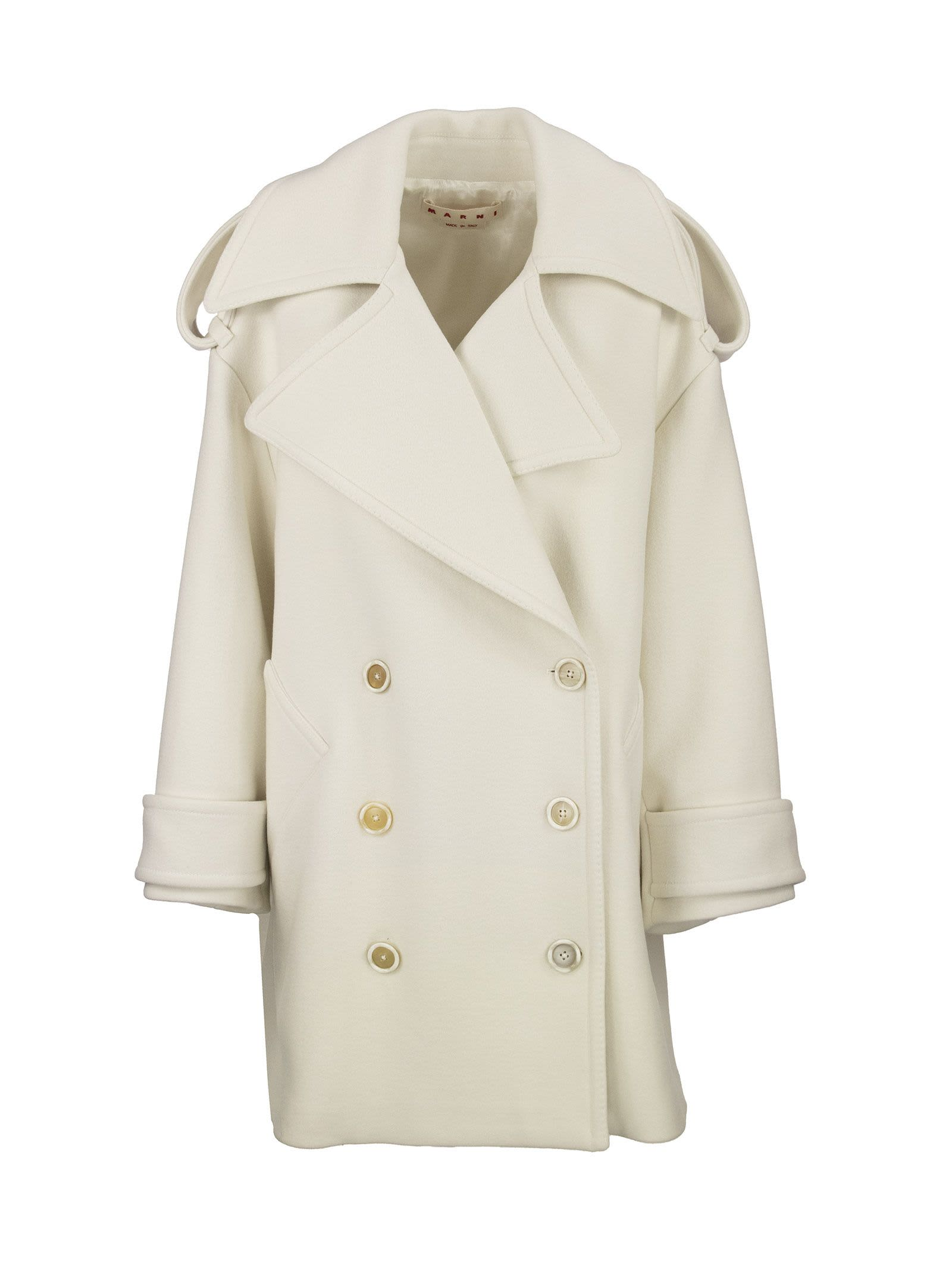 Marni DOUBLE-BREASTED WOOL FELT COAT