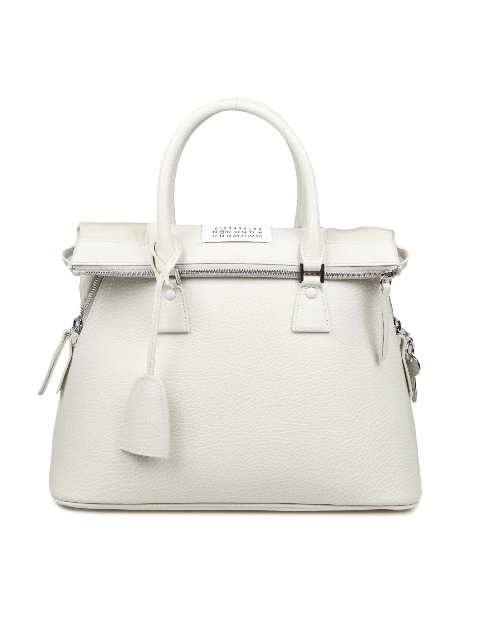 Maison Margiela 5ac Handbag In Greige Calf Leather