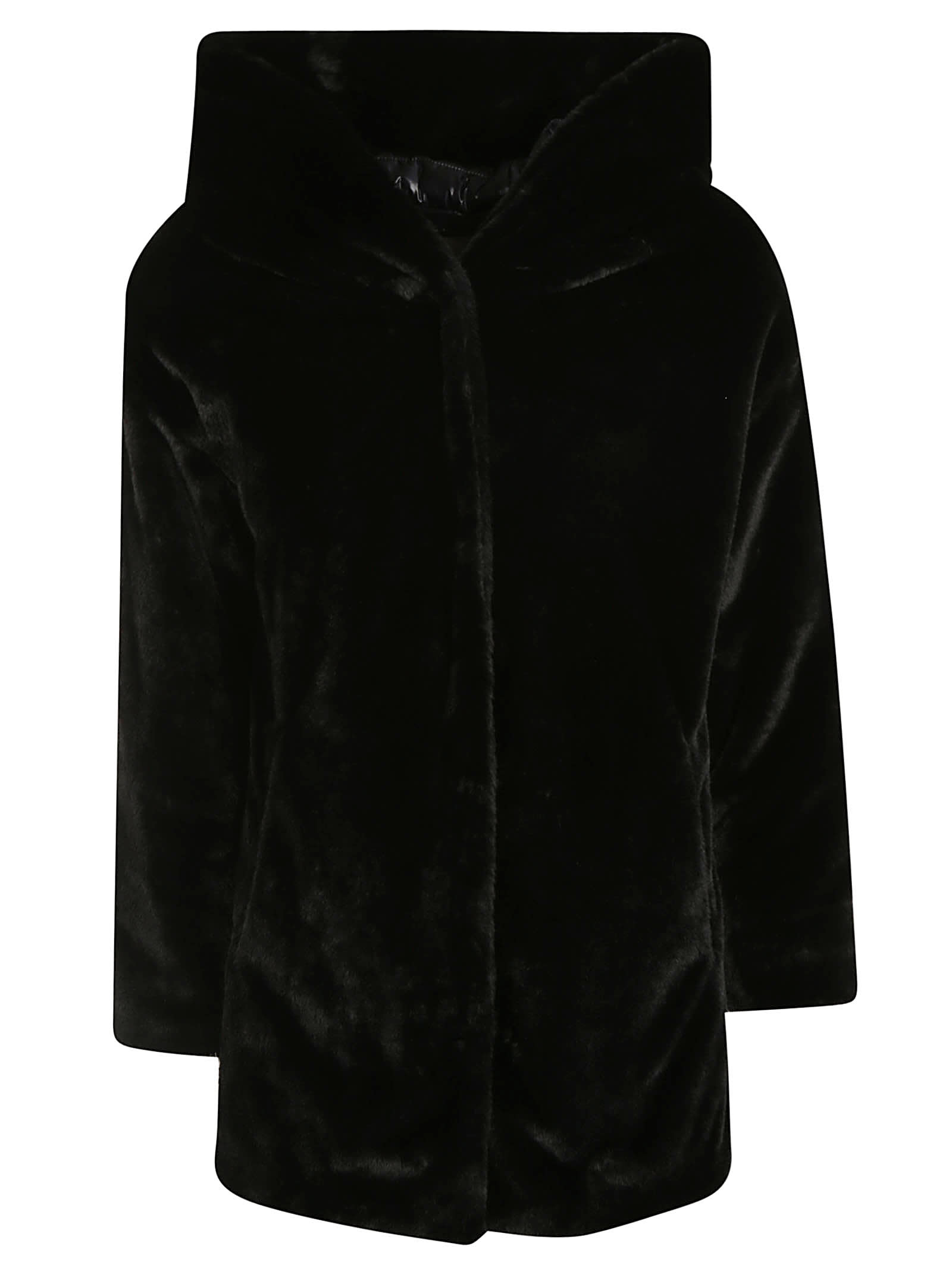 Herno Large Hood Fur Coated Jacket