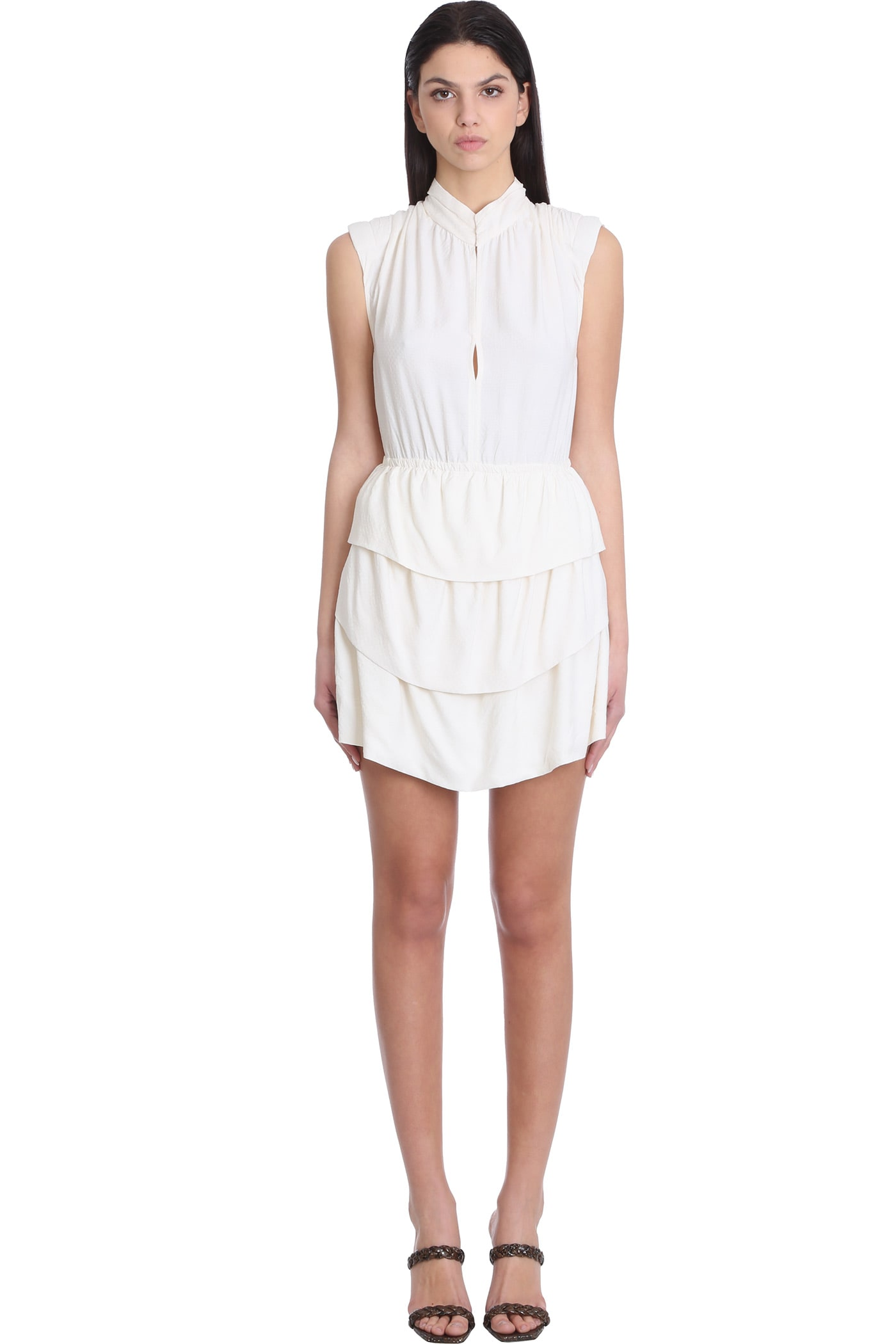 Buy IRO Calcie Dress In Beige Rayon online, shop IRO with free shipping