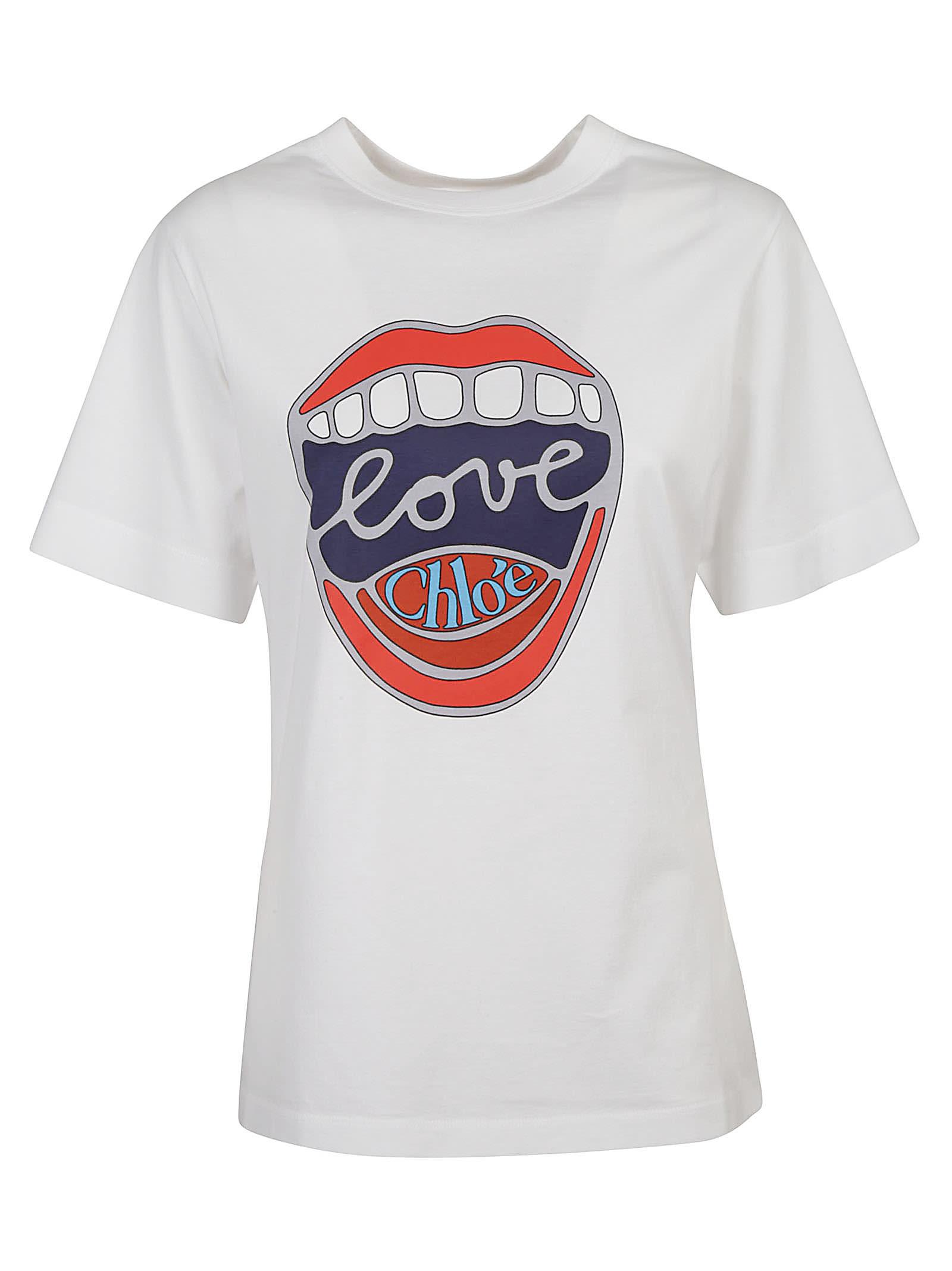 Chloé Cottons LOVE LOGO PRINT T-SHIRT
