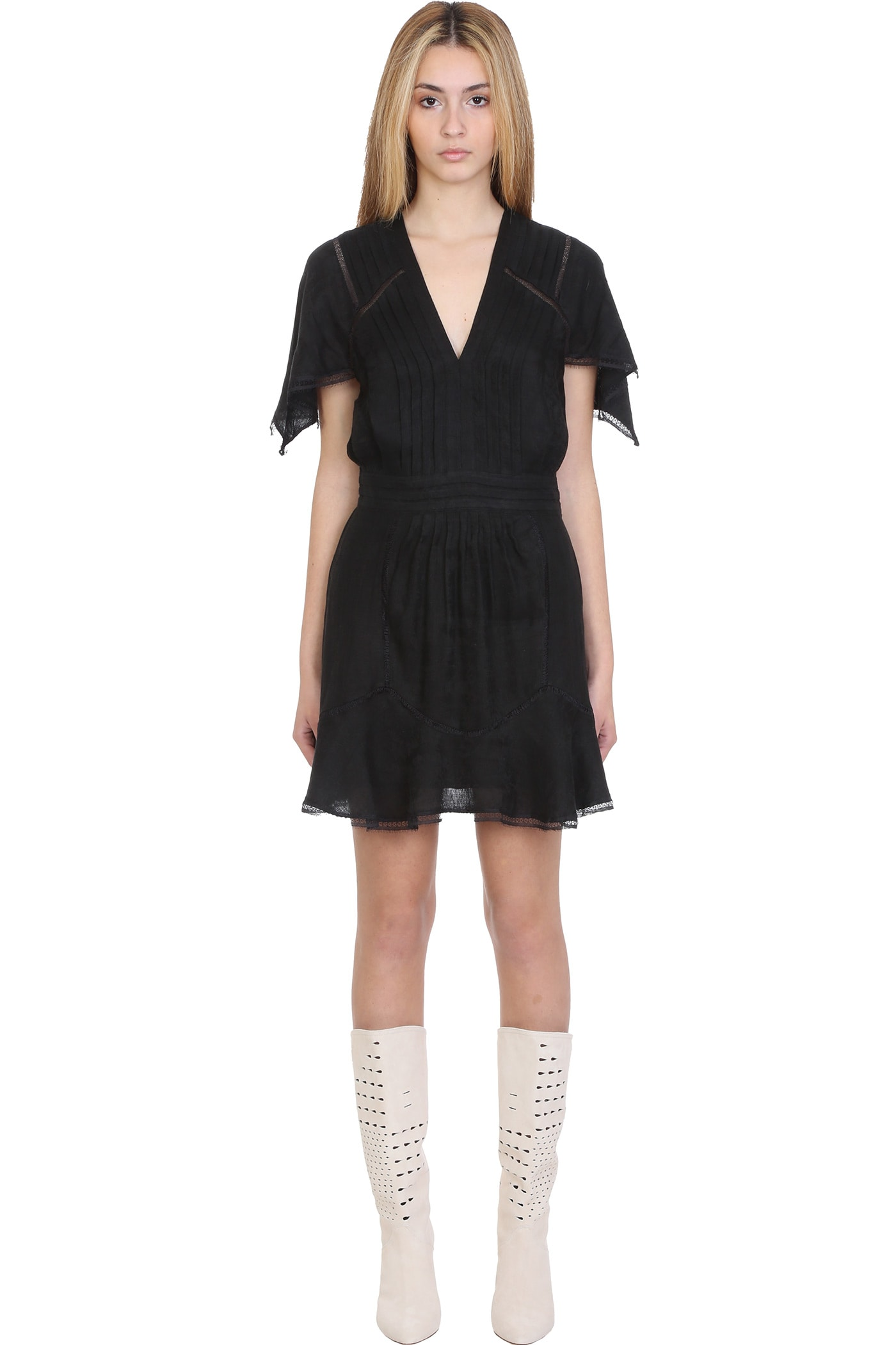 Buy IRO Balco Dress In Black Viscose online, shop IRO with free shipping