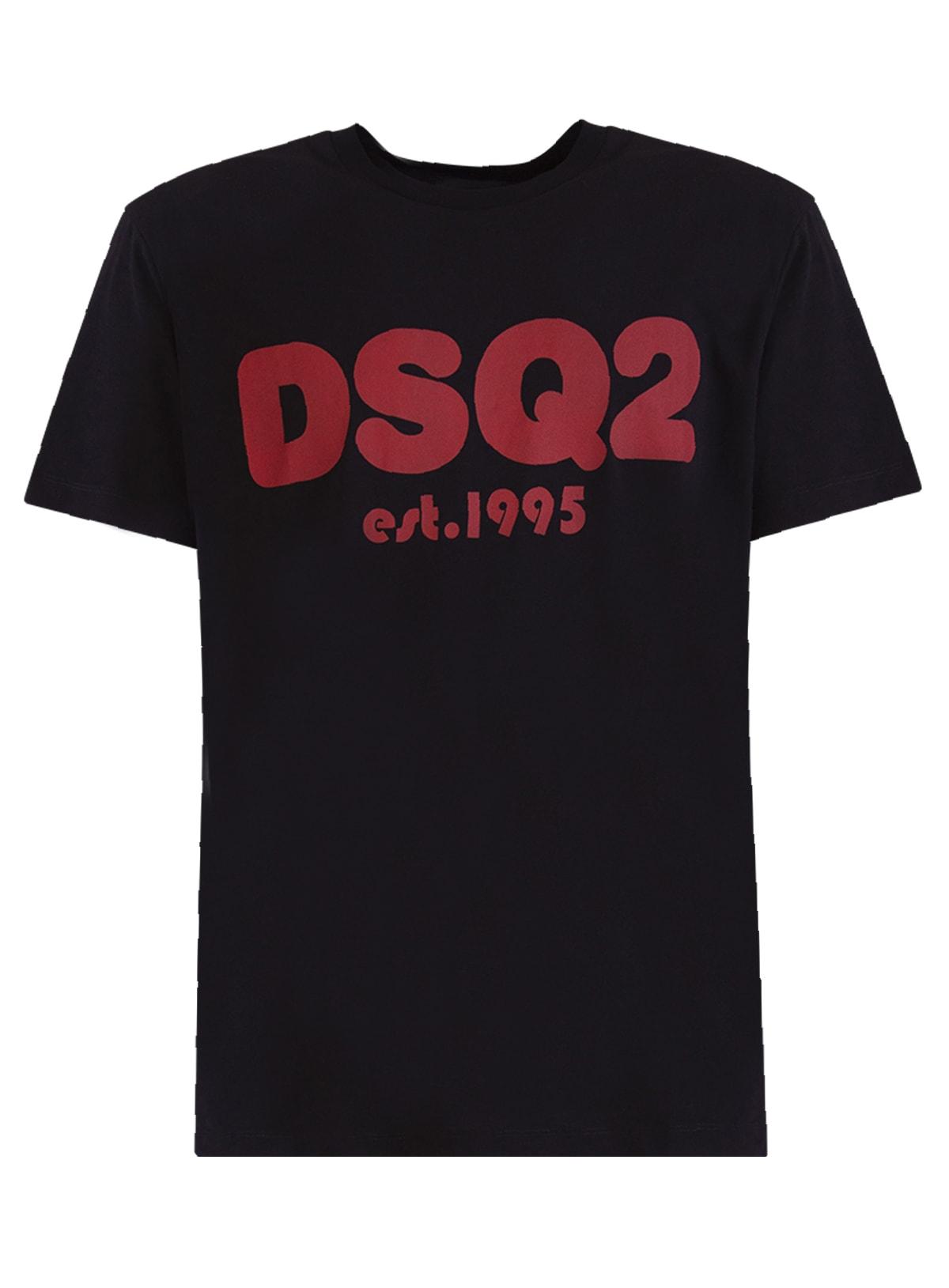Dsquared2 Cottons DSQUARED LOGO-PRINT SHORT-SLEEVE T-SHIRT