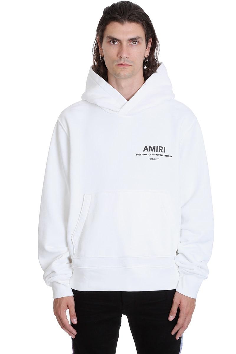 AMIRI Amiri Hoodie Sweatshirt In White Cotton