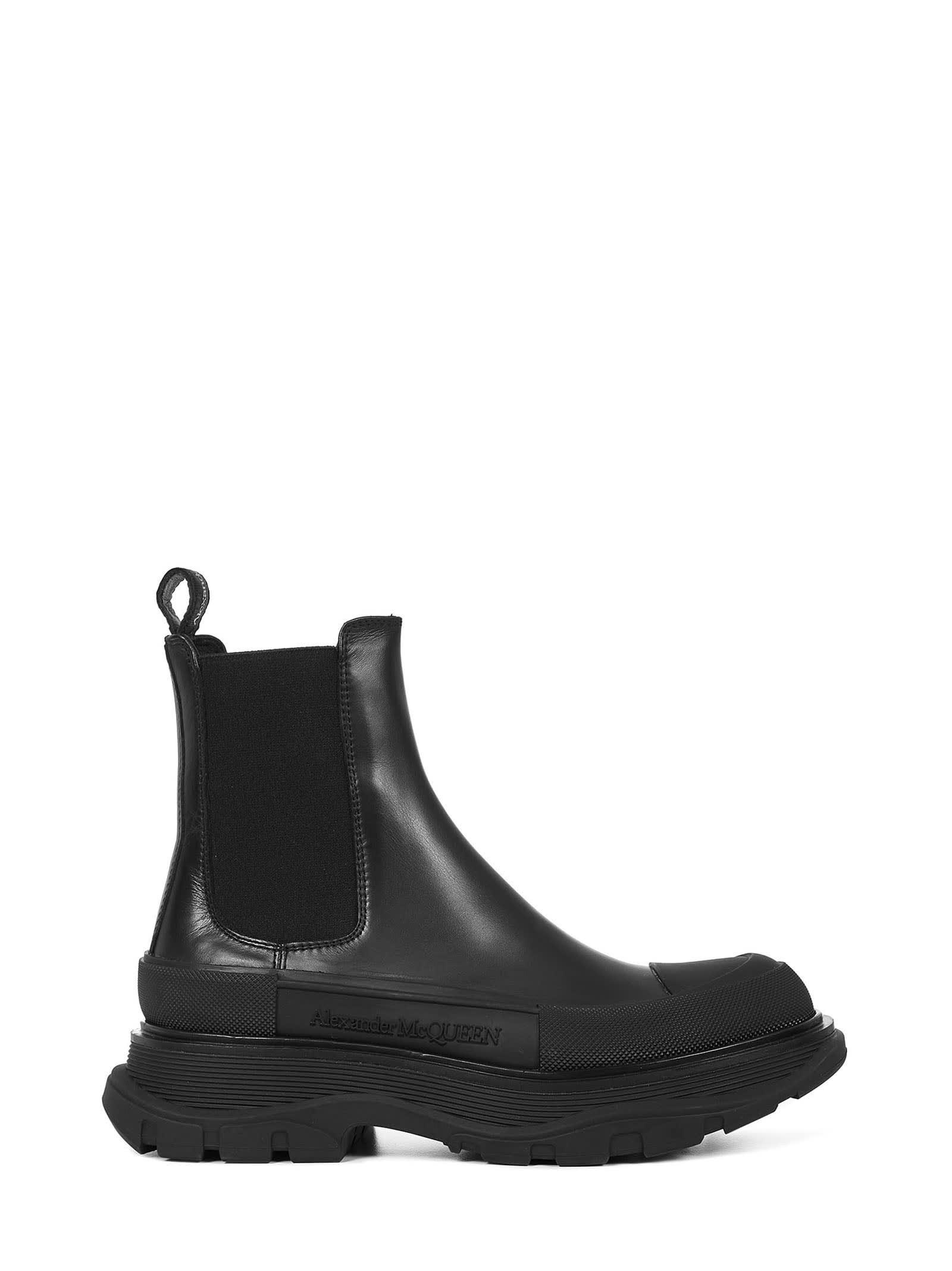 Buy Alexander McQueen Chelsea Boots online, shop Alexander McQueen shoes with free shipping