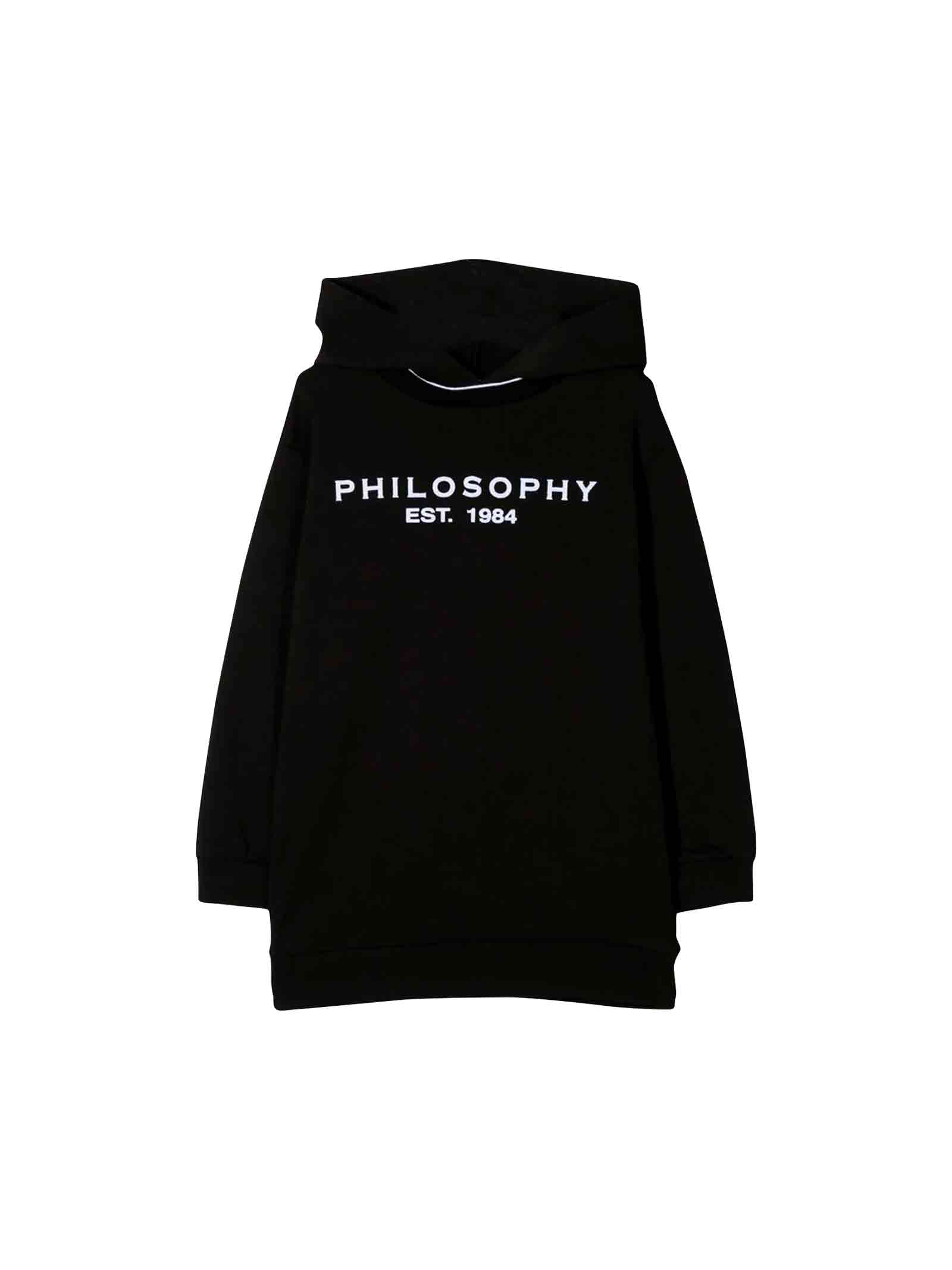 Philosophy di Lorenzo Serafini Kids Black Sweatshirt Dress Teen