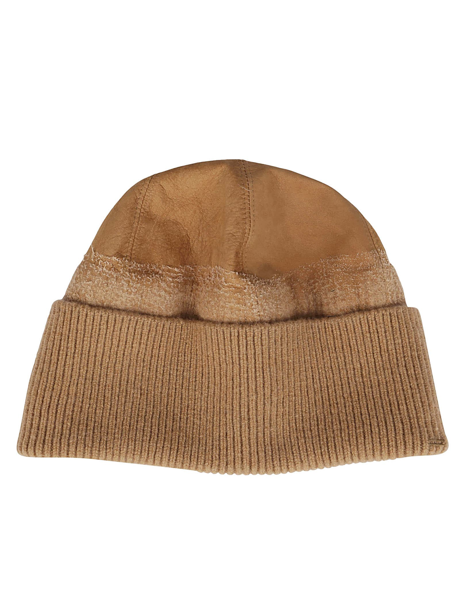 CA4LA Brown Leather Hat