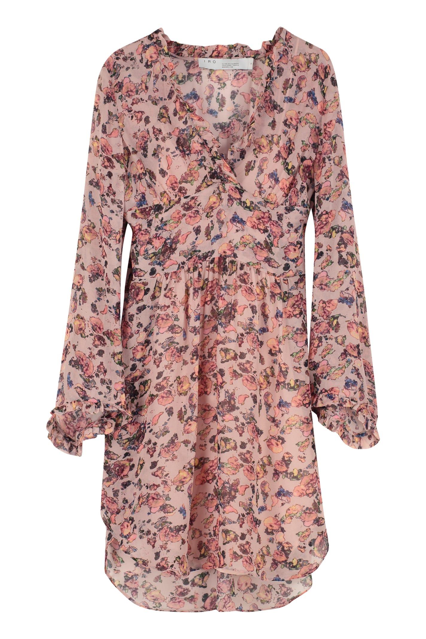 Photo of  IRO Printed Dress With Wrinkles- shop IRO  online sales