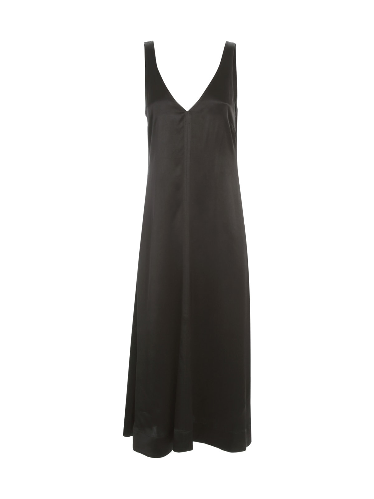 Heavy Satin Dress W/s V Neck