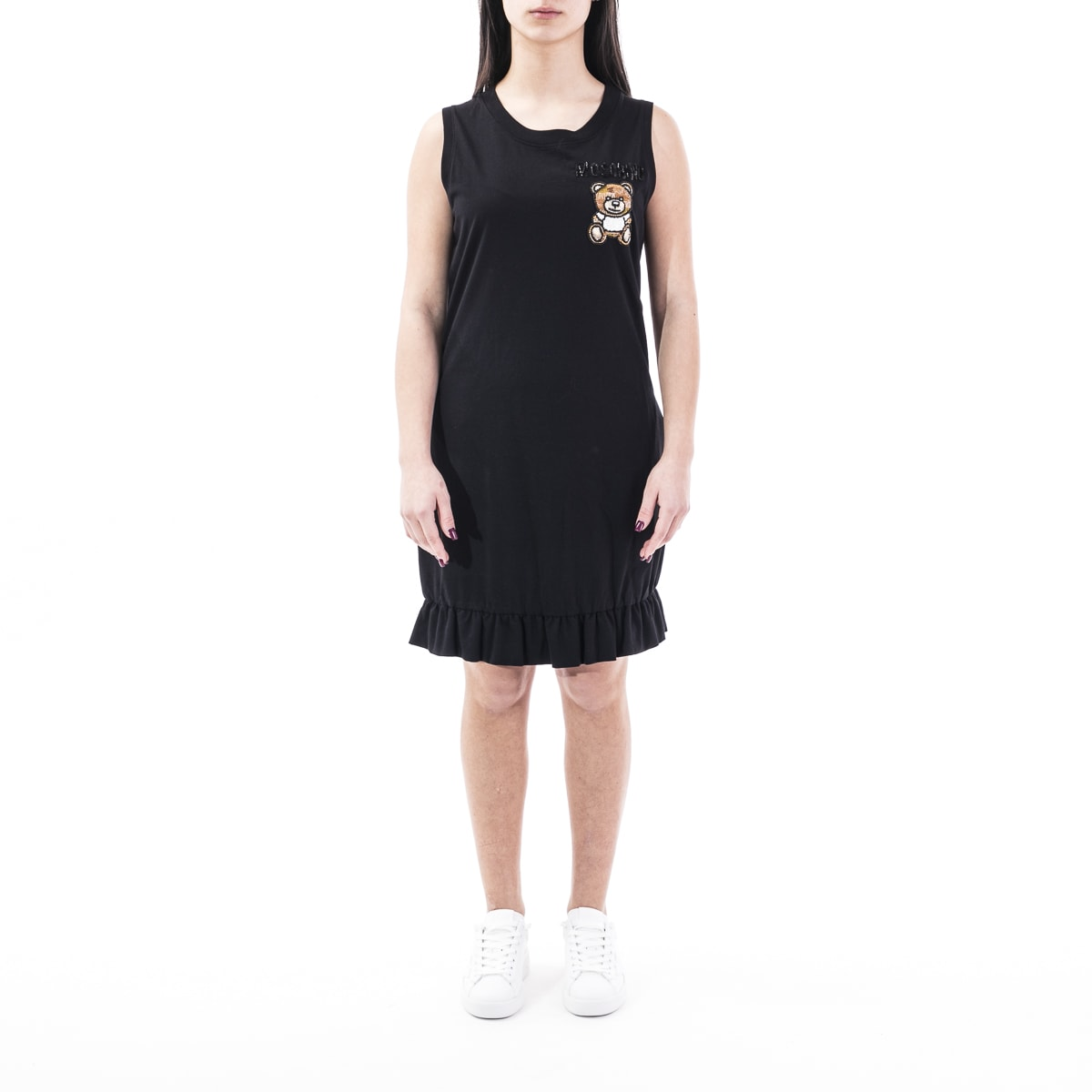 Buy Moschino Couture Cotton Mini Dress online, shop Moschino with free shipping