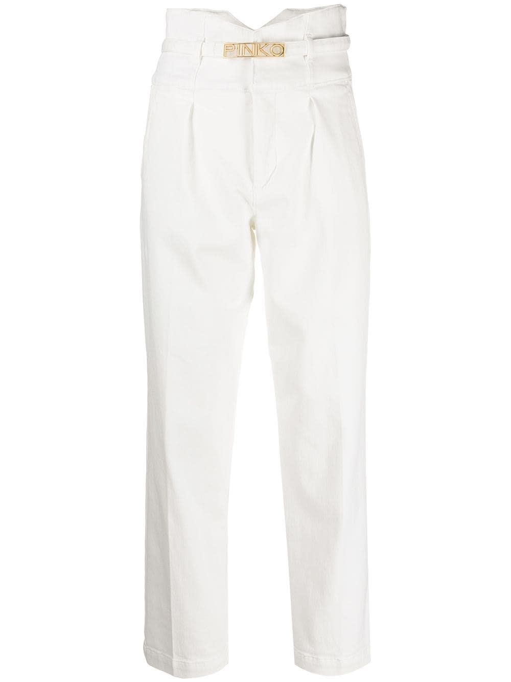 Pinko ARIEL JEANS WITH LOGO BUCKLE