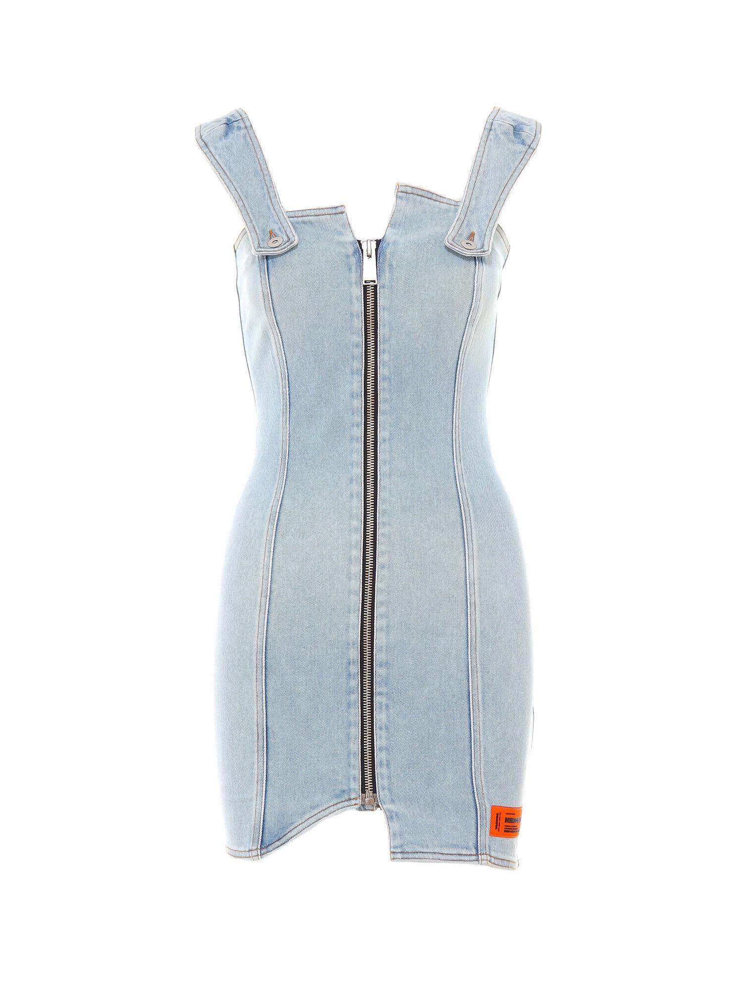 Buy HERON PRESTON Denim Zip Dress online, shop HERON PRESTON with free shipping
