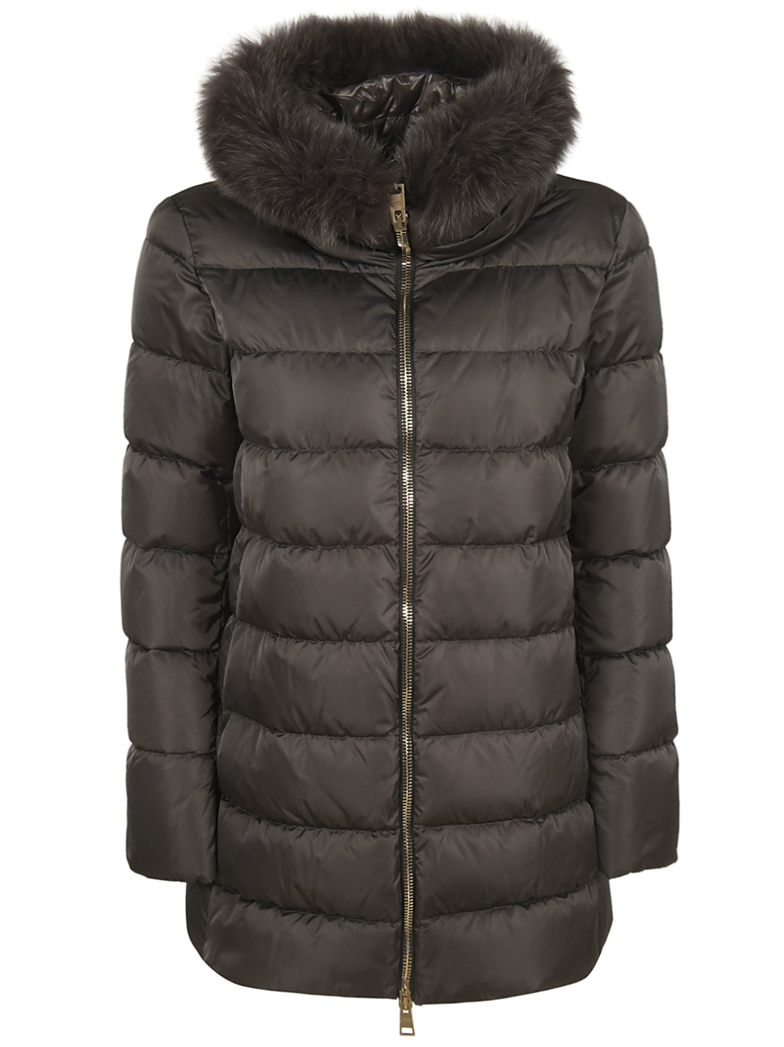 Herno High Neck Classic Feathered Padded Jacket