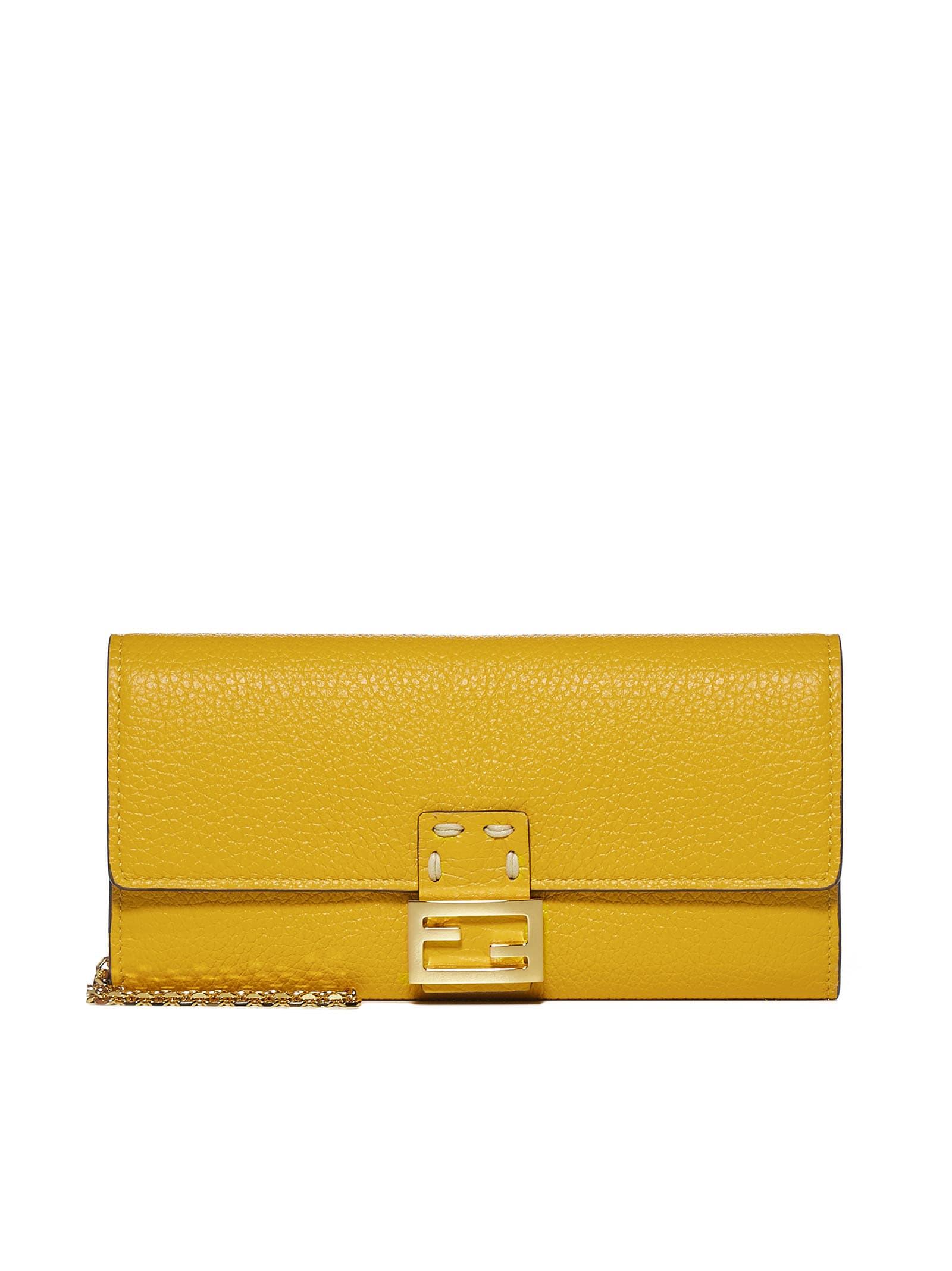 Fendi Wallet In Mimosa Oro Soft