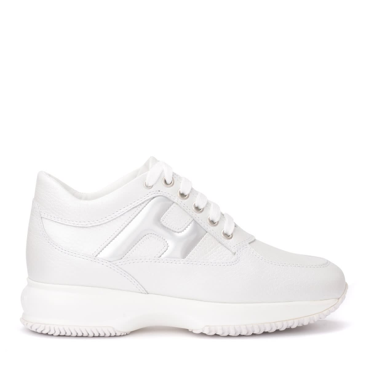 Hogan Hogan Sneaker Interactive Model In White Leather With