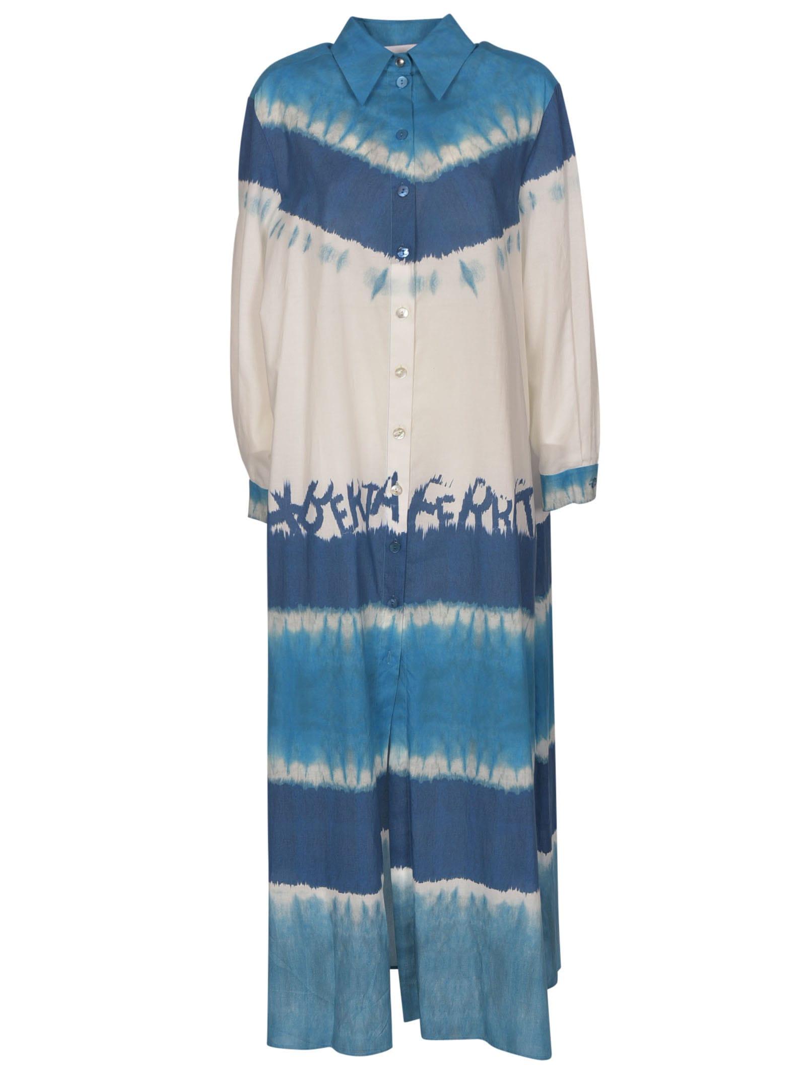 Alberta Ferretti Logo Dye Shirt Dress