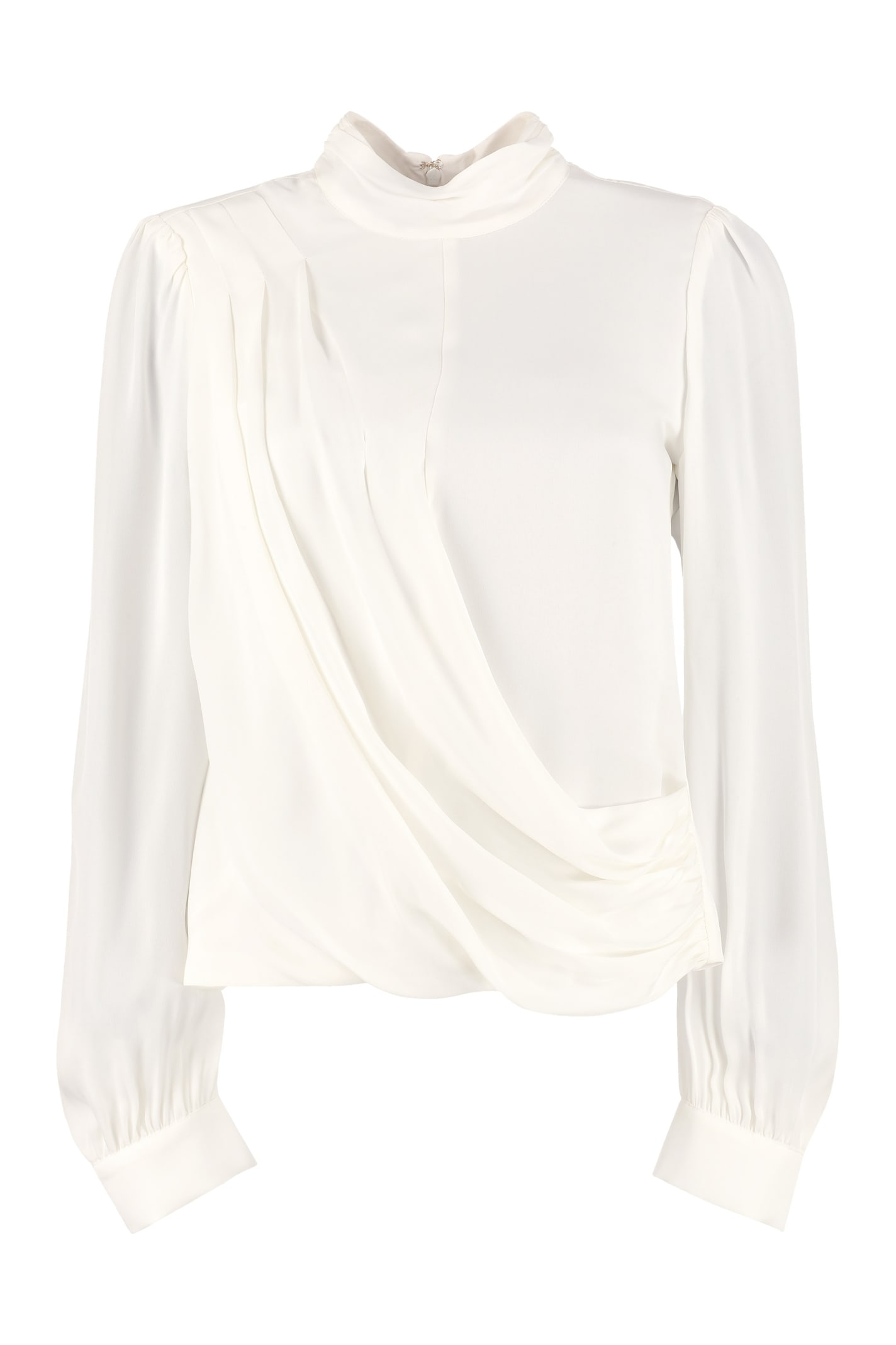 MICHAEL Michael Kors Draped Detail Silk Blouse