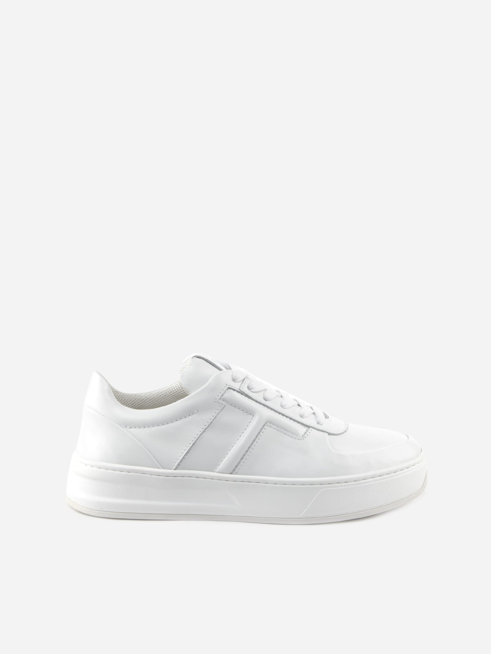 Tod's WHITE LEATHER SNEAKER