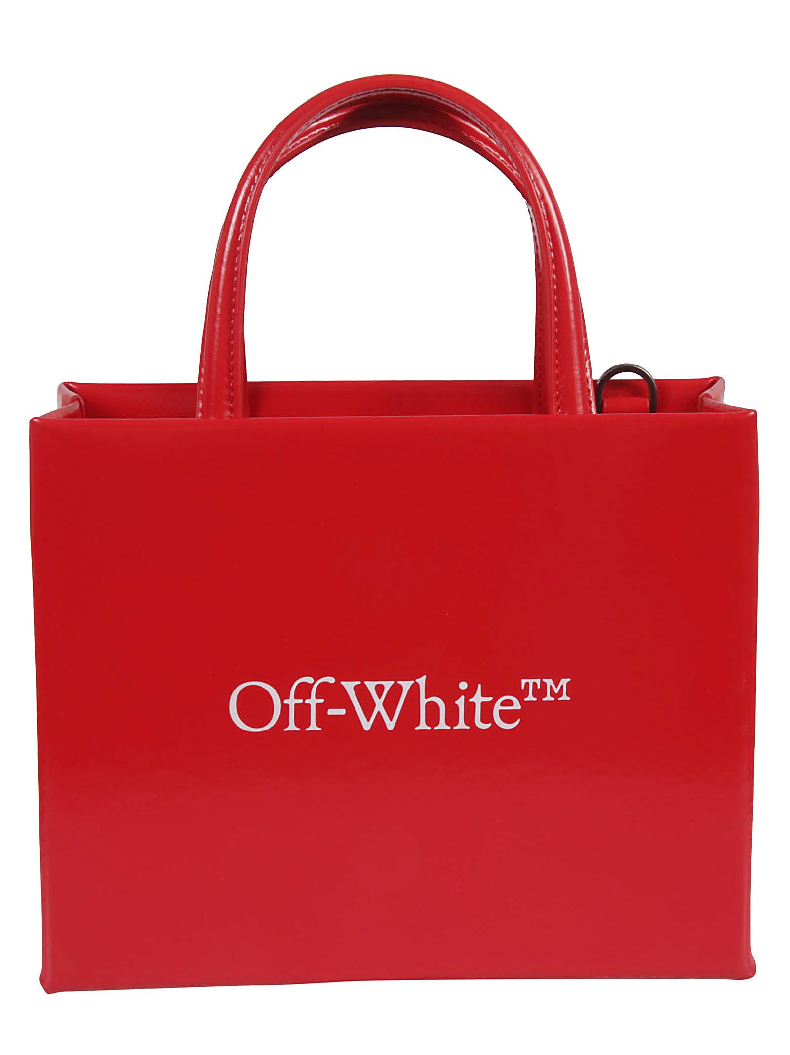 Off-White LOGO MINI BOX TOTE