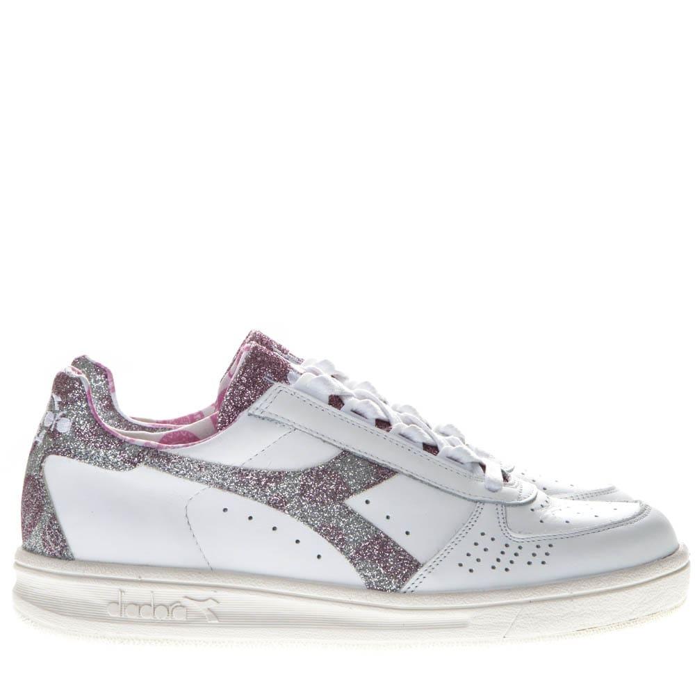 7db33e69 Diadora Heritage B Elite H Paisley White Leather Sneakers