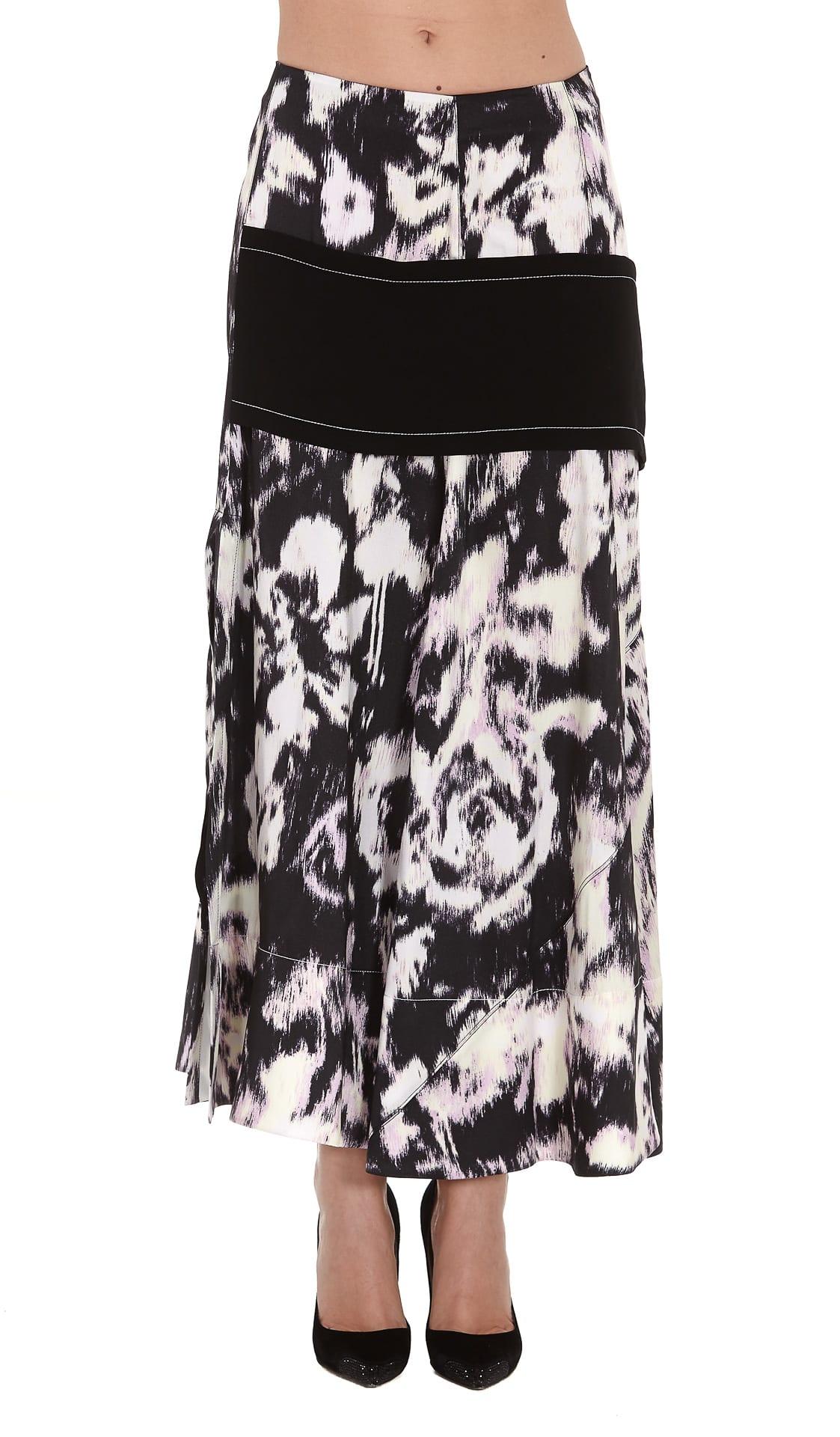 3.1 Phillip Lim Abstract Daisy Layered Skirt