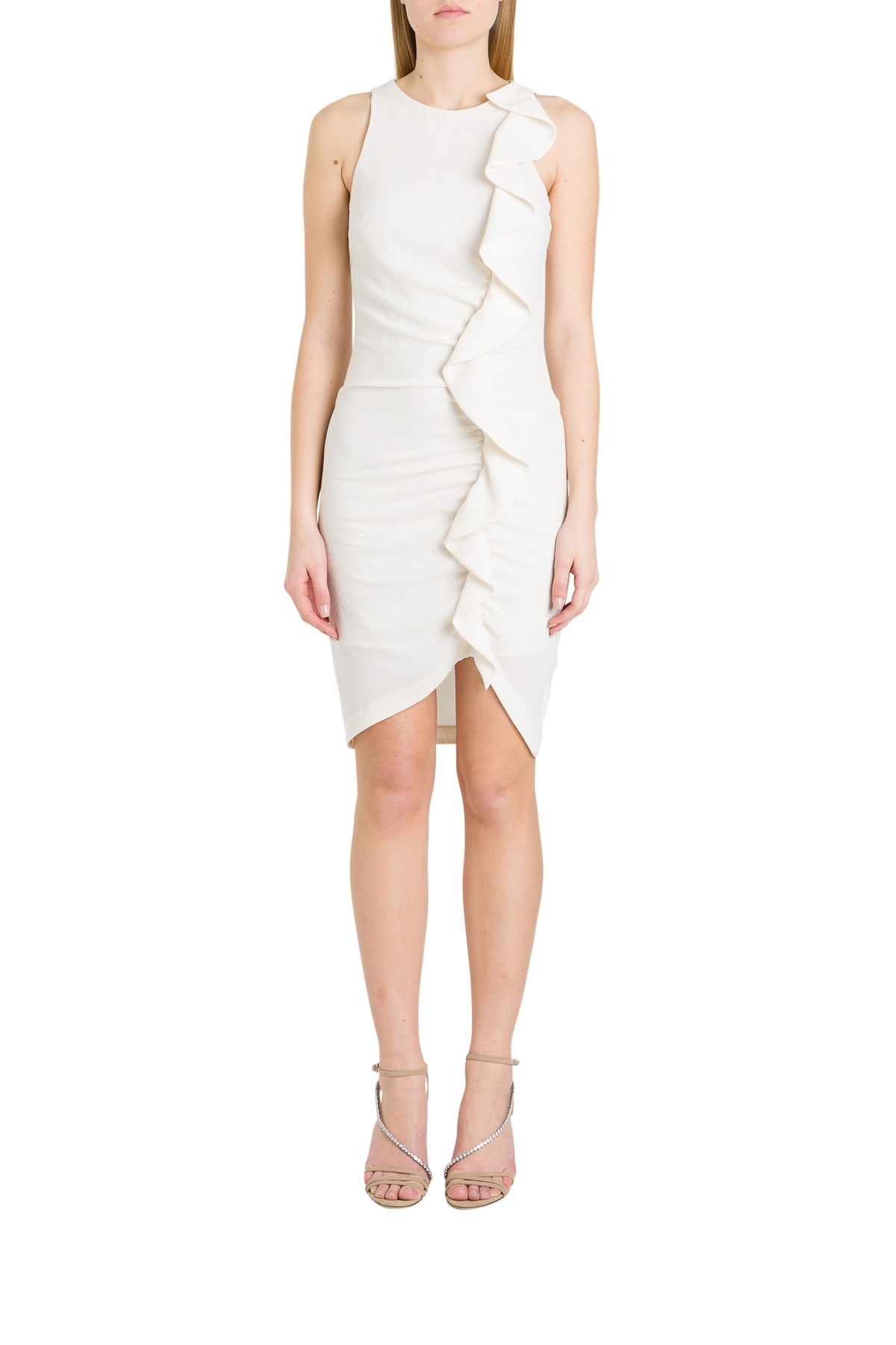 Buy Pinko Sheath Dress With Ruche online, shop Pinko with free shipping
