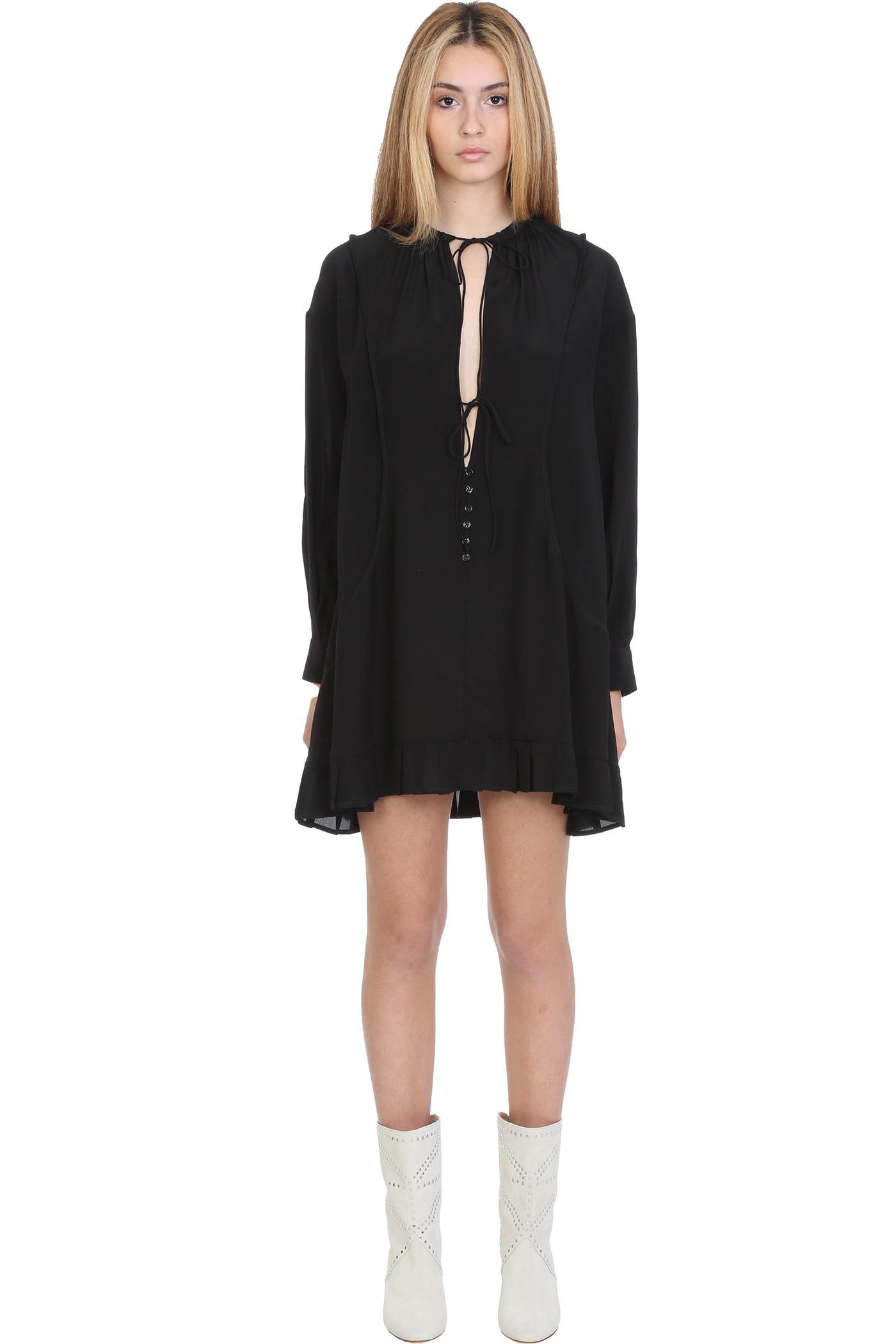 Iro TRONY DRESS IN BLACK SILK