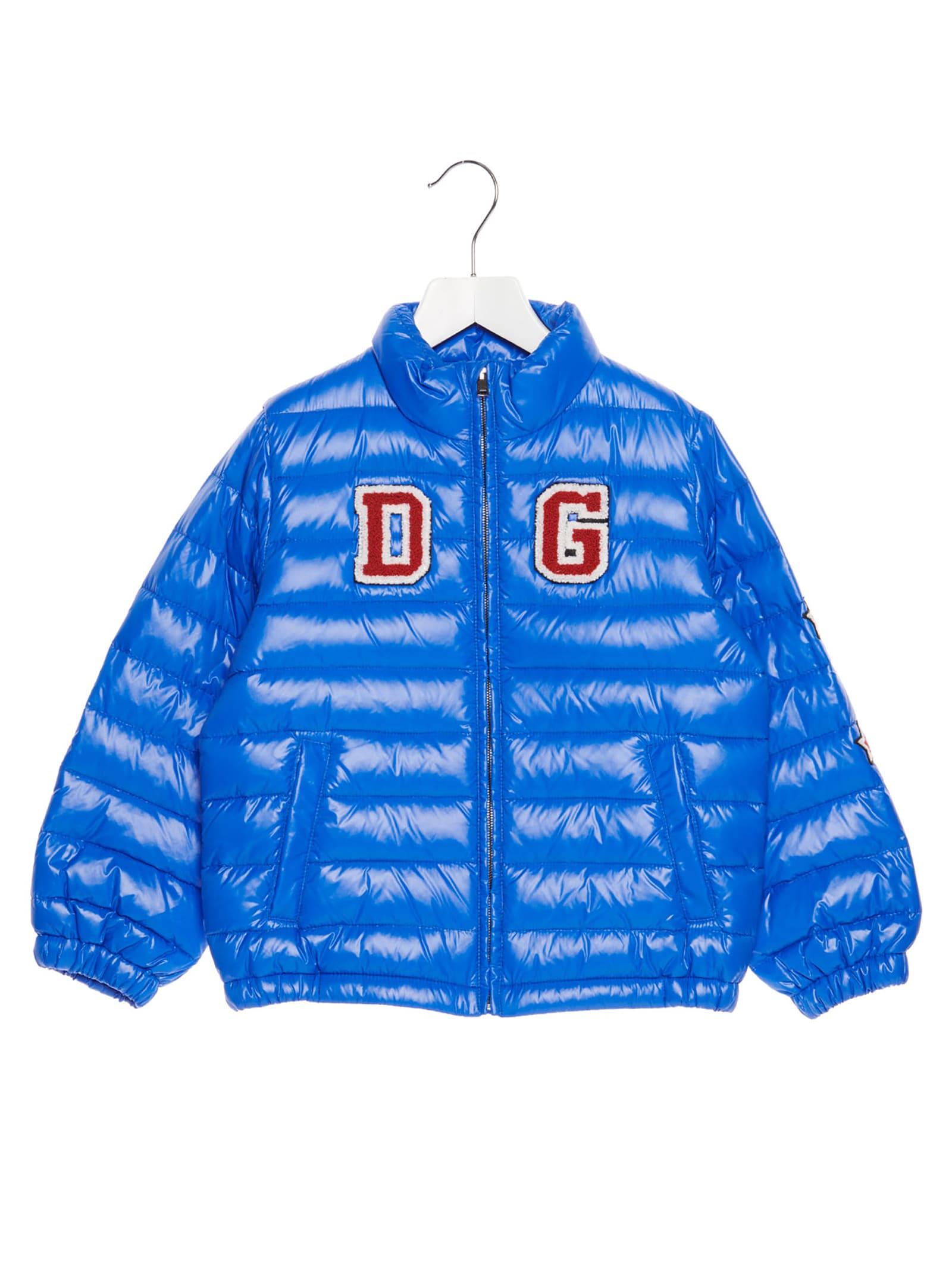 Dolce & Gabbana Kids' Jacket In Light Blue