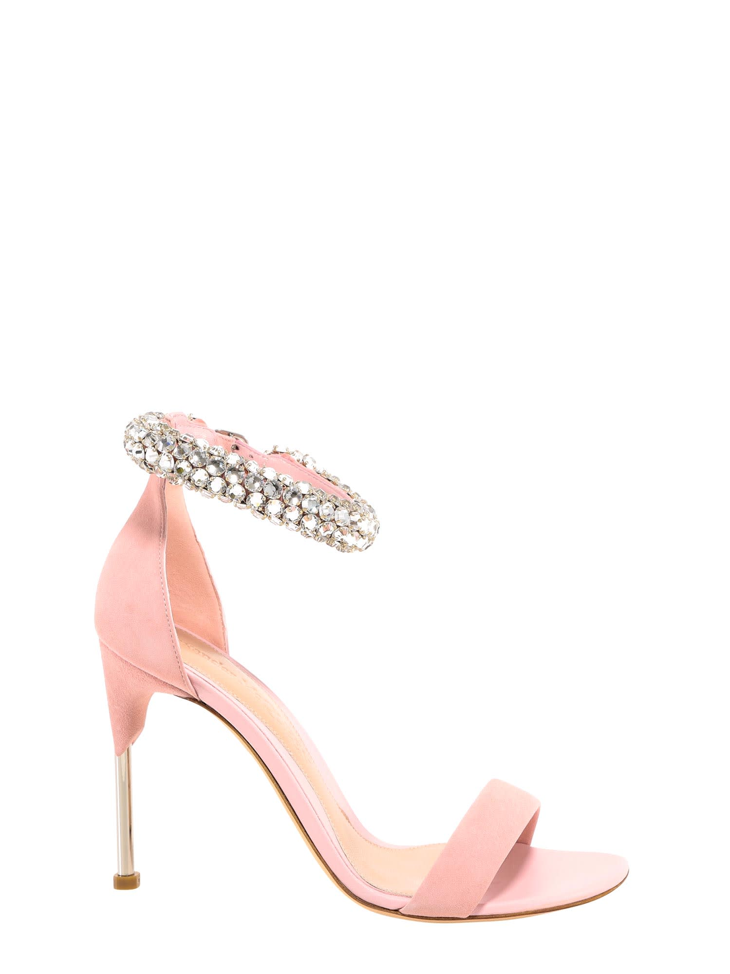 Buy Alexander McQueen Crystal Strap Sandals online, shop Alexander McQueen shoes with free shipping