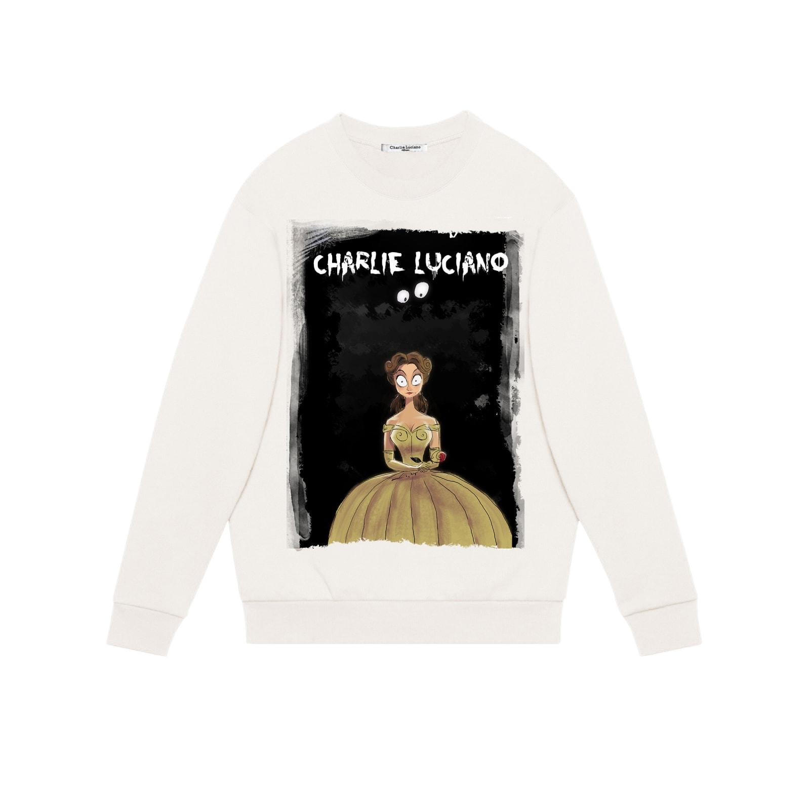 Charlie Luciano Beast Unisex Print Sweatshirt