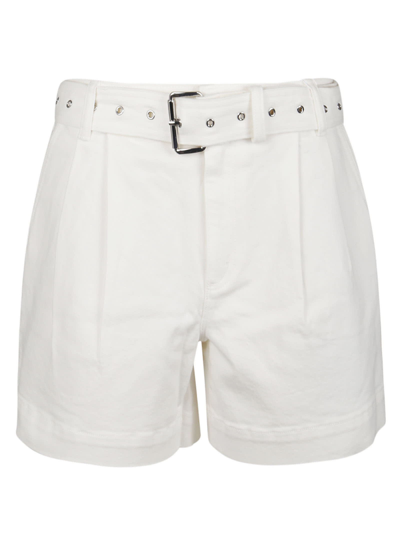 Michael Kors Cottons PLEATED BELTED DNM SHORTS