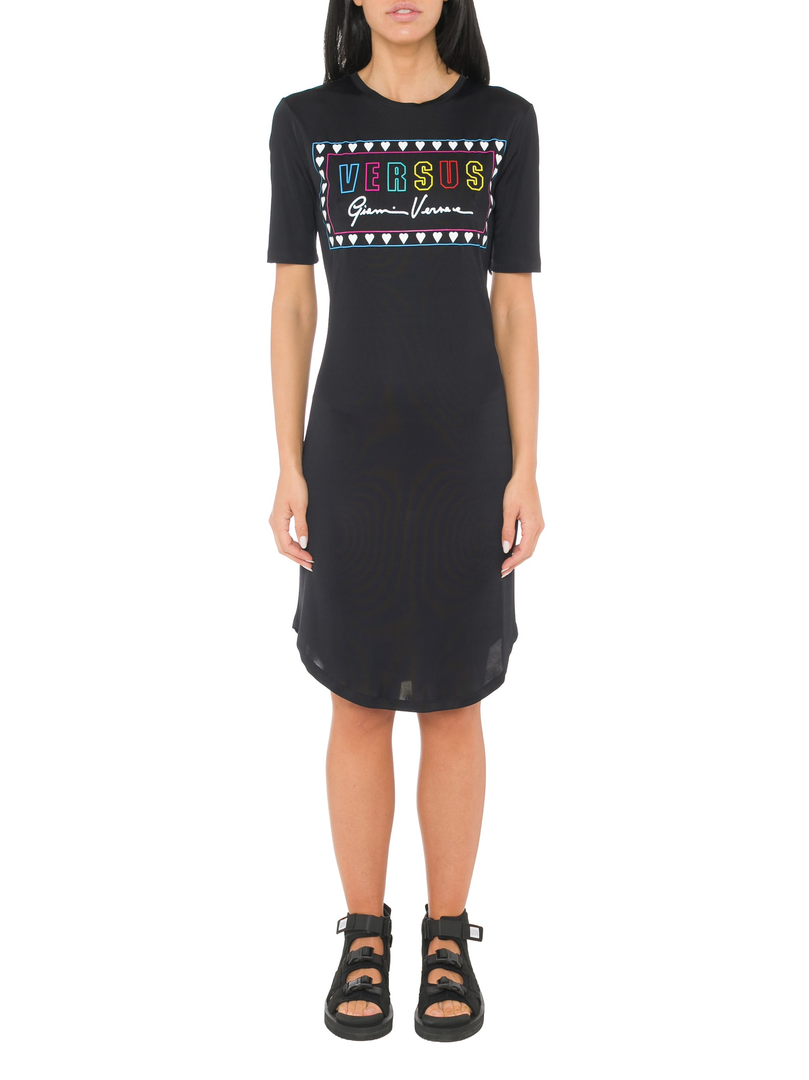 Versus Versace Printed Slim Fit Dress
