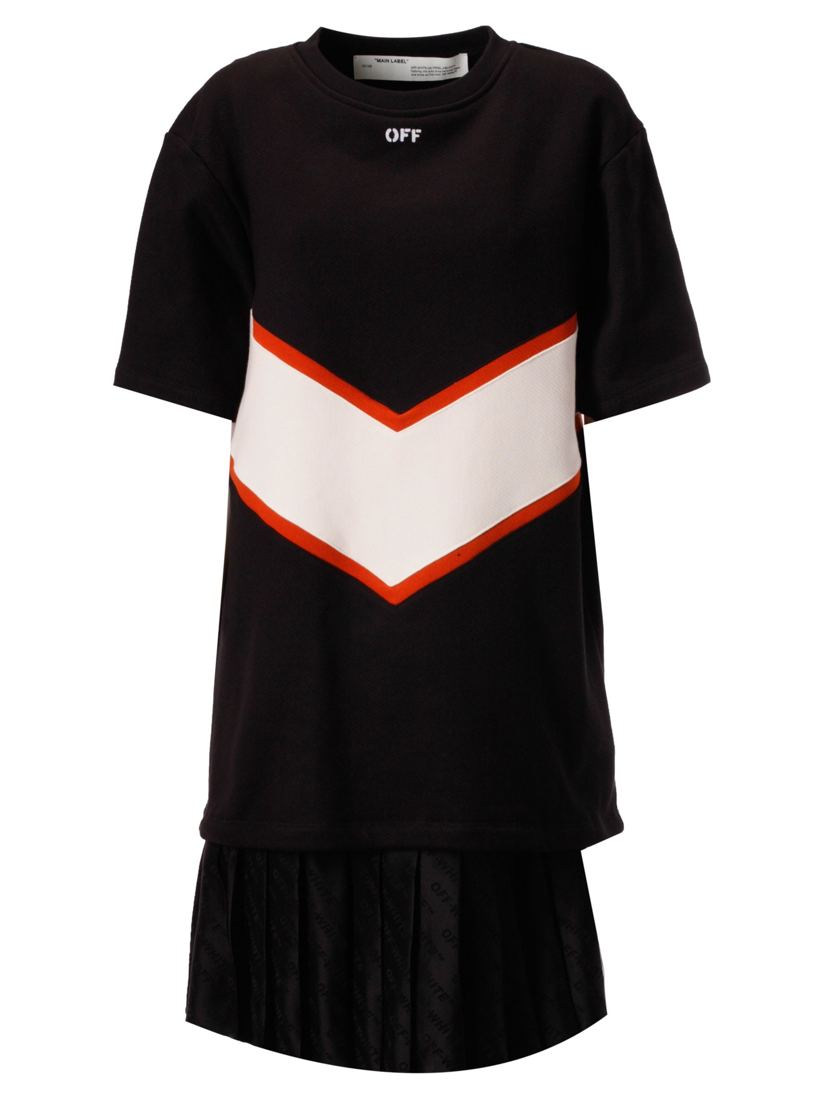 Buy Off-White Intarsia Sweatshirt Dress online, shop Off-White with free shipping