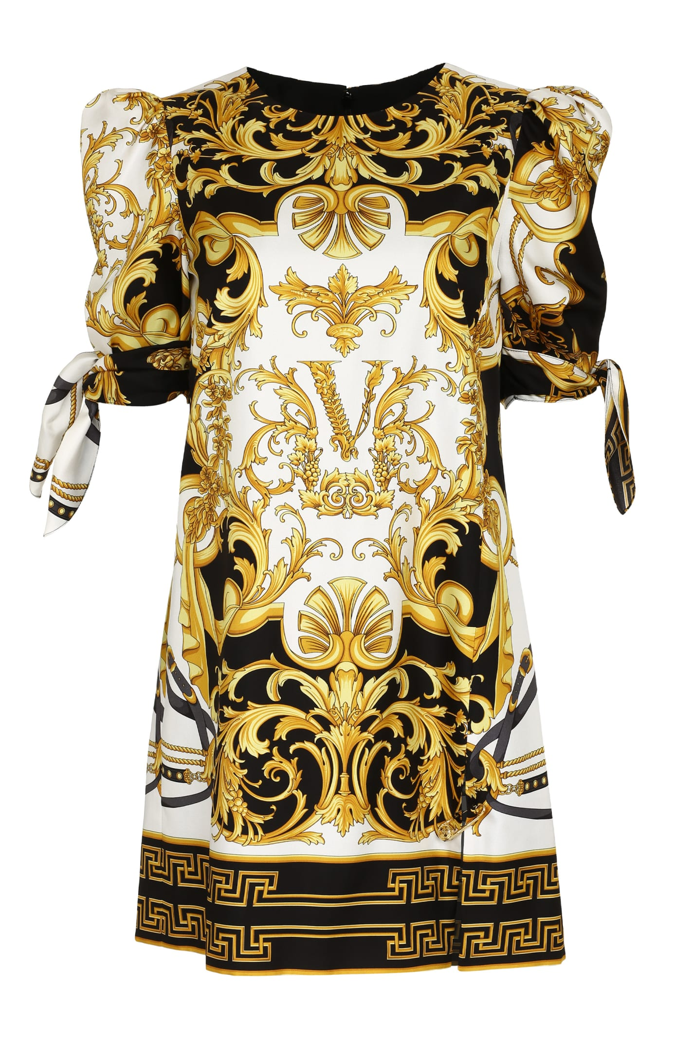 Buy Versace Printed Silk Dress online, shop Versace with free shipping