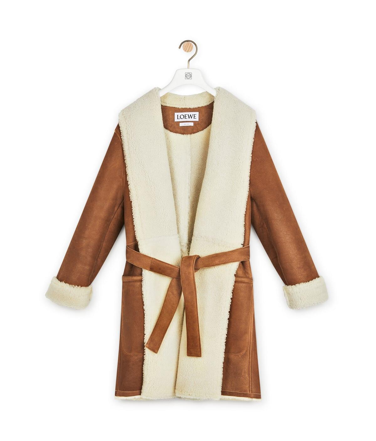 Loewe Shearling Coat Belt