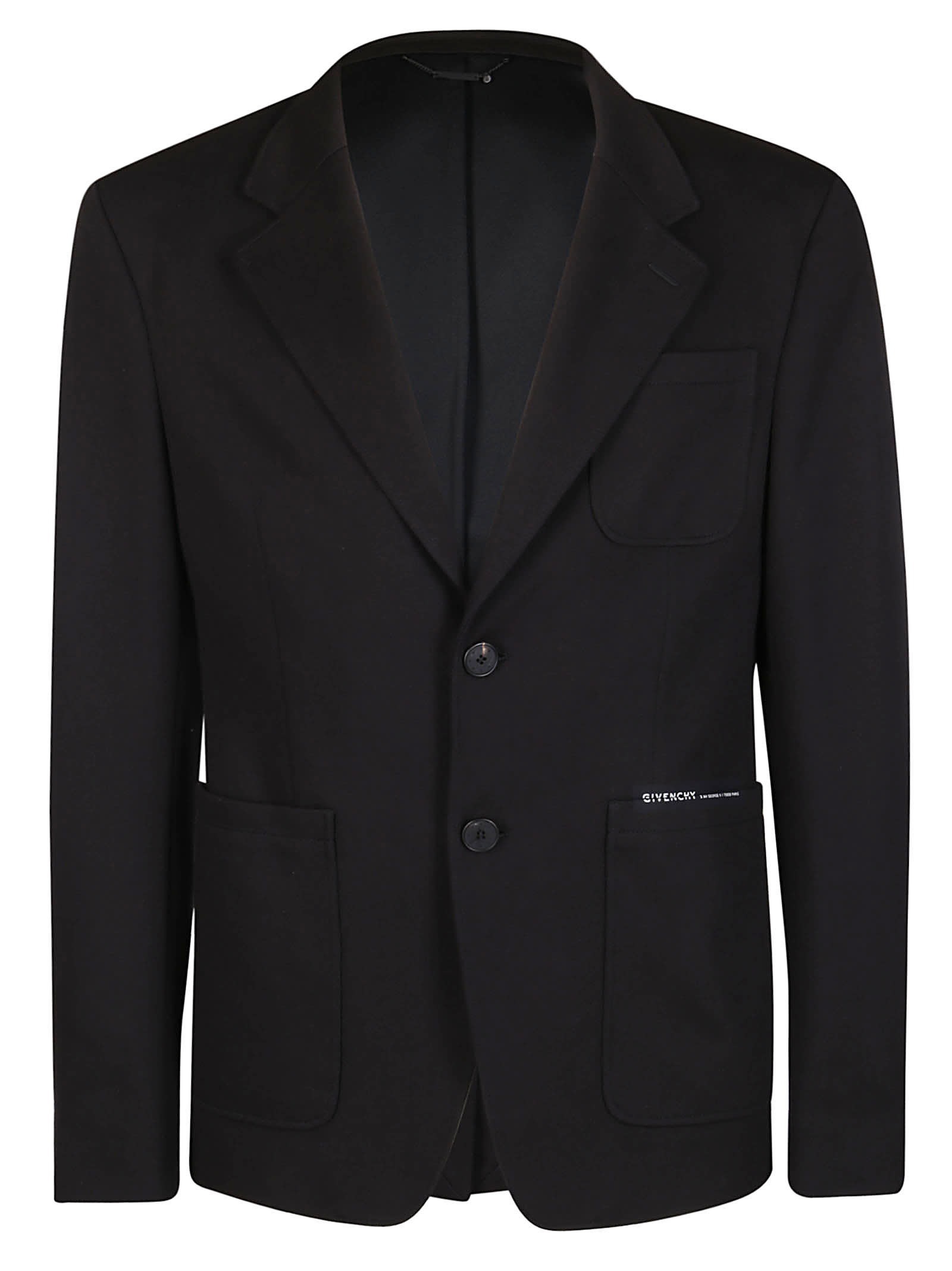 Givenchy Black Cotton Blazer