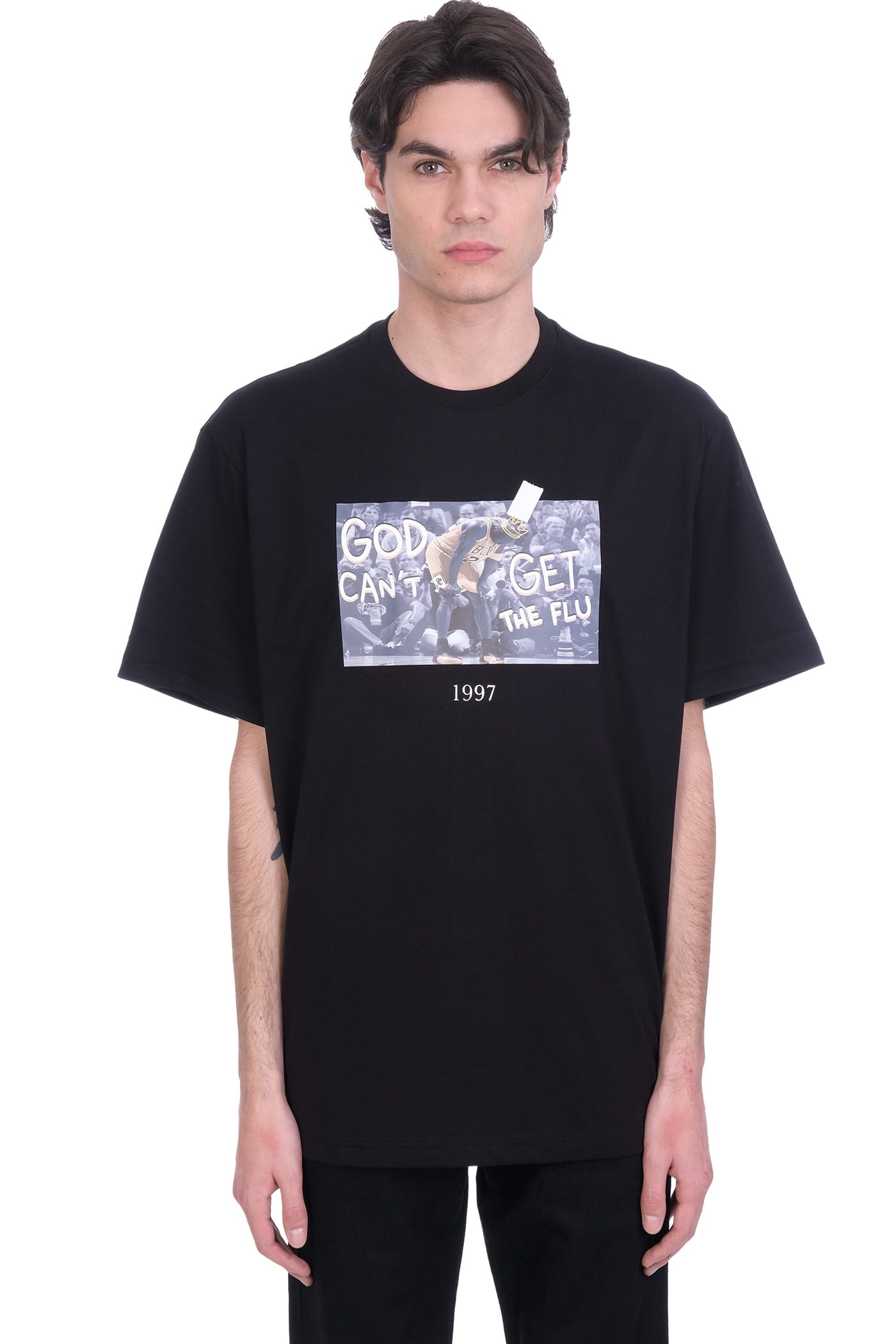 Throwback T-SHIRT IN BLACK COTTON