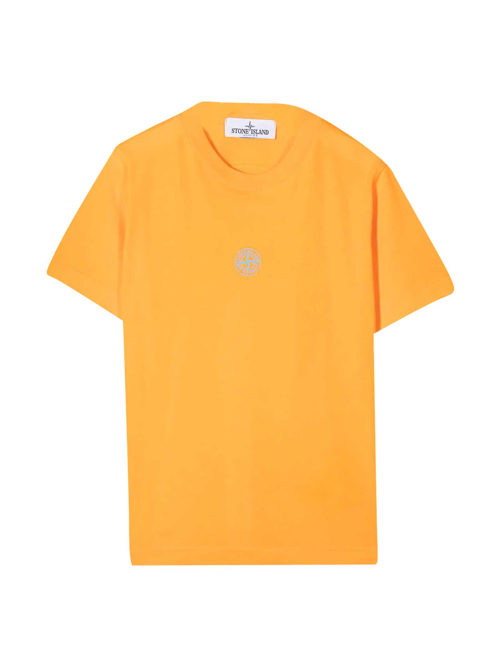 Stone Island Junior T-shirts ORANGE T-SHIRT