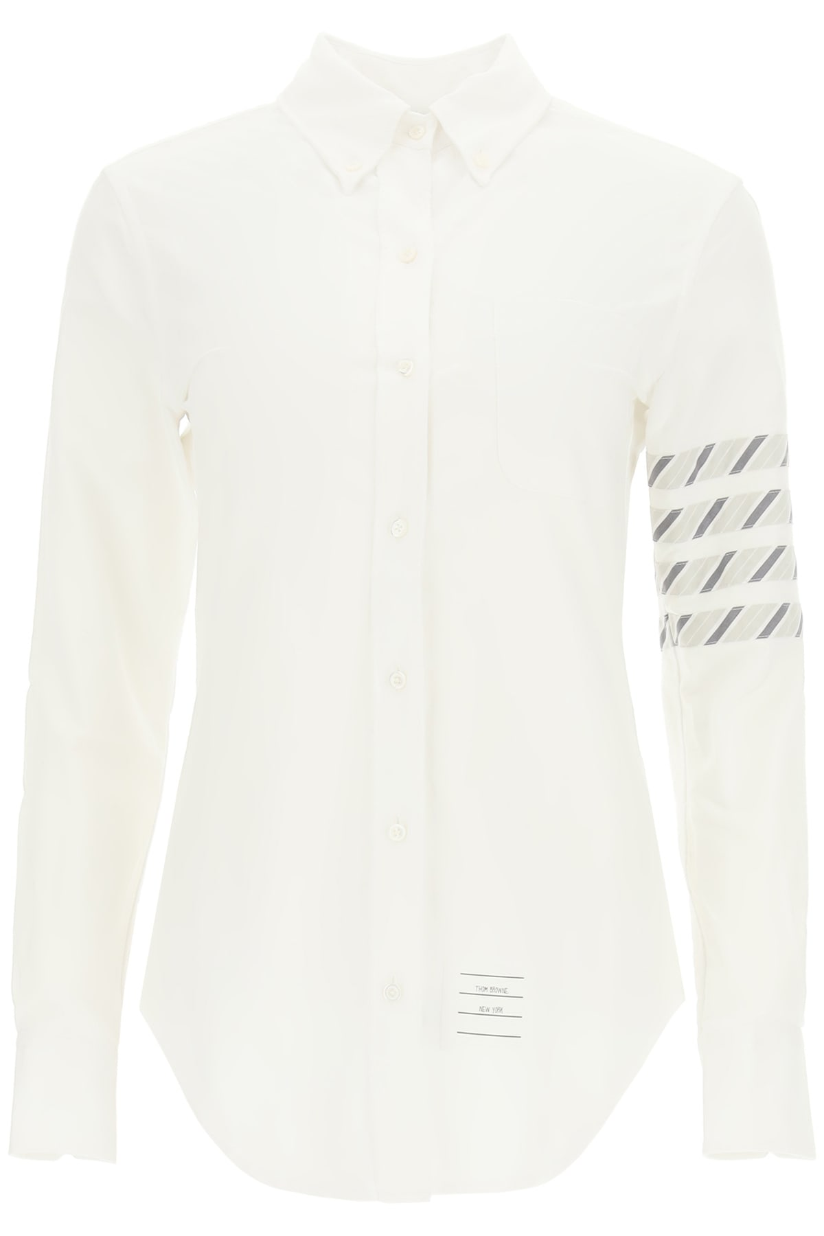 Thom Browne OXFORD COTTON BUTTON-DOWN SHIRT 4-BAR