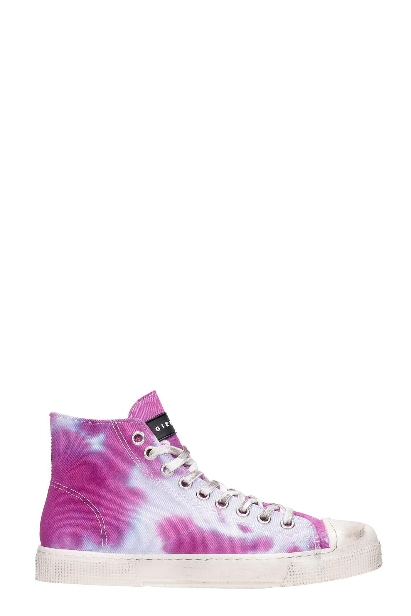 J.m. High Sneakers In Viola Canvas