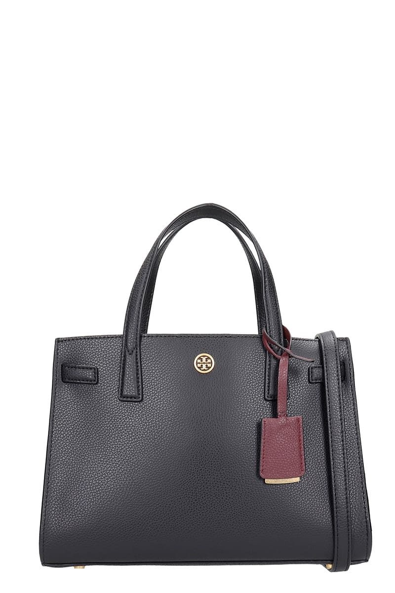 Tory Burch Satchel Small Tote In Black Leather