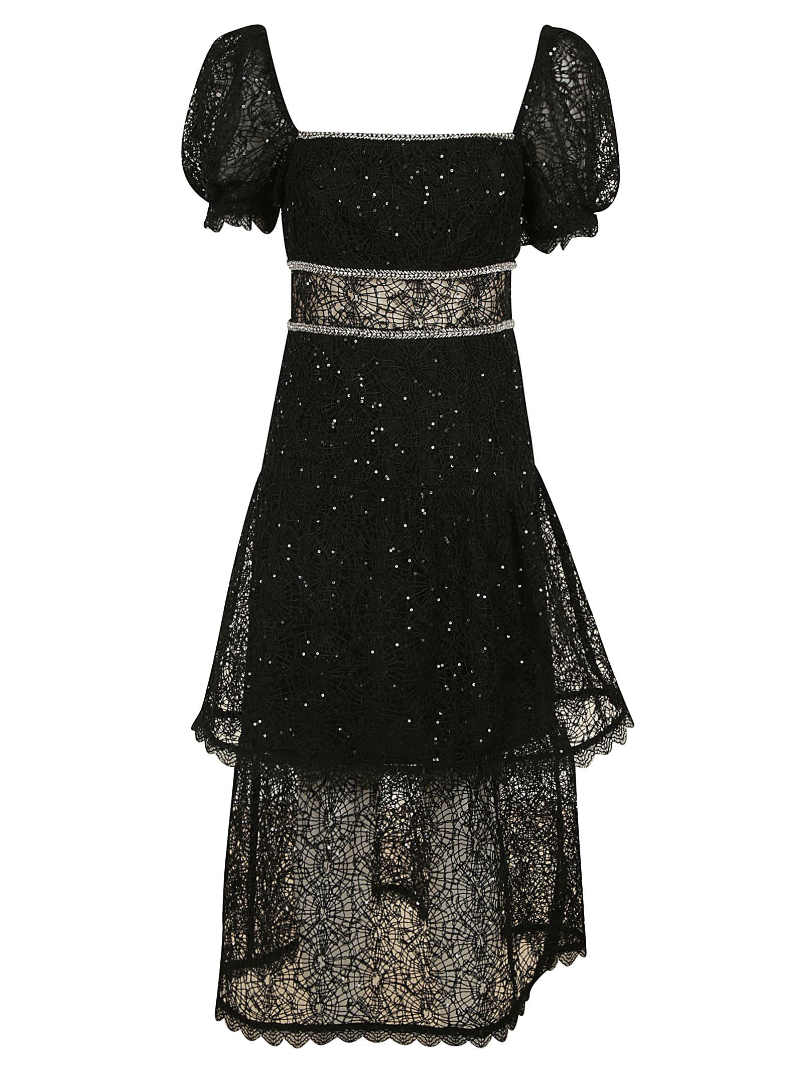Buy self-portrait Sequin Circle Lace Midi Dress online, shop self-portrait with free shipping