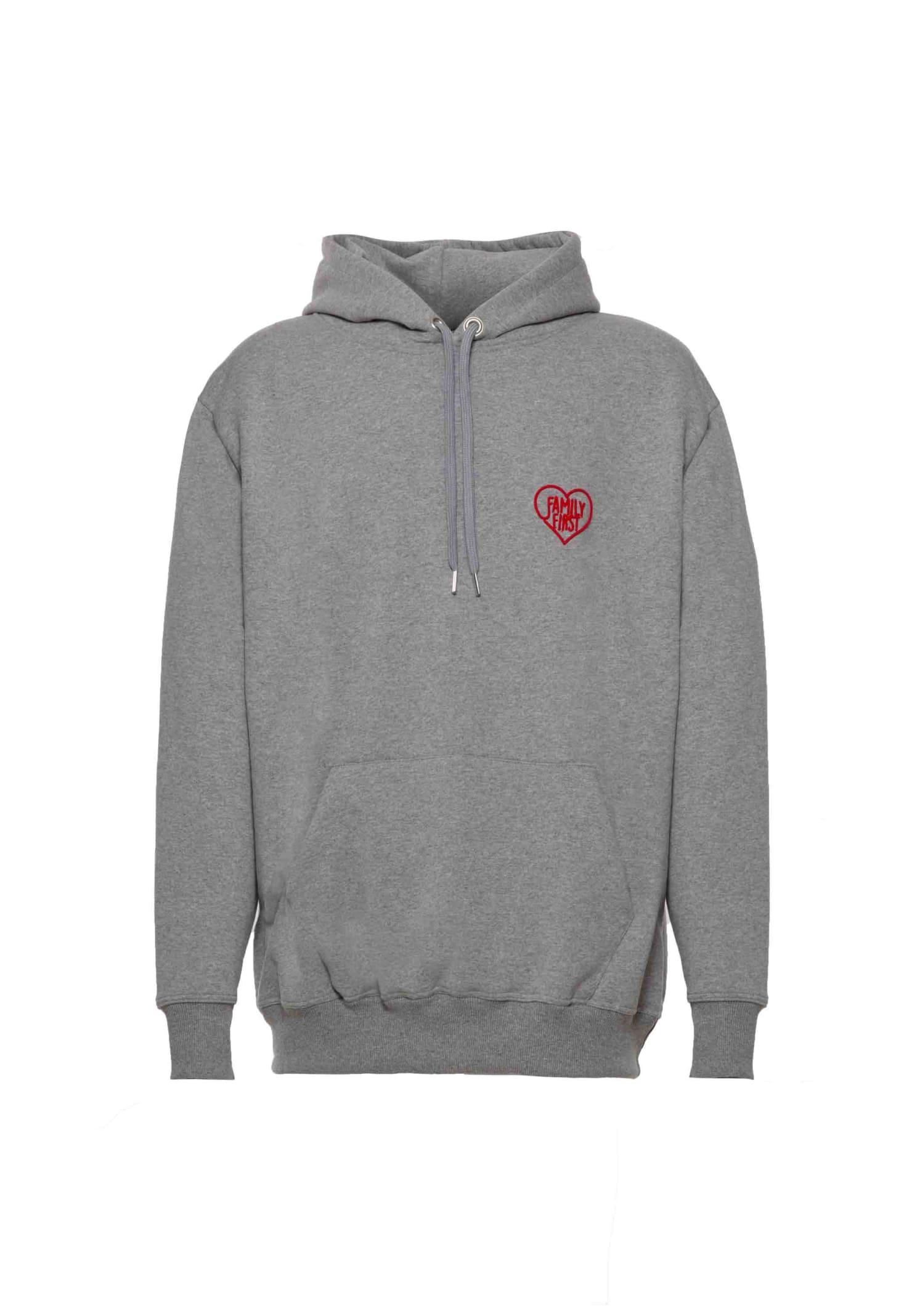 Hoodie Heart Grey